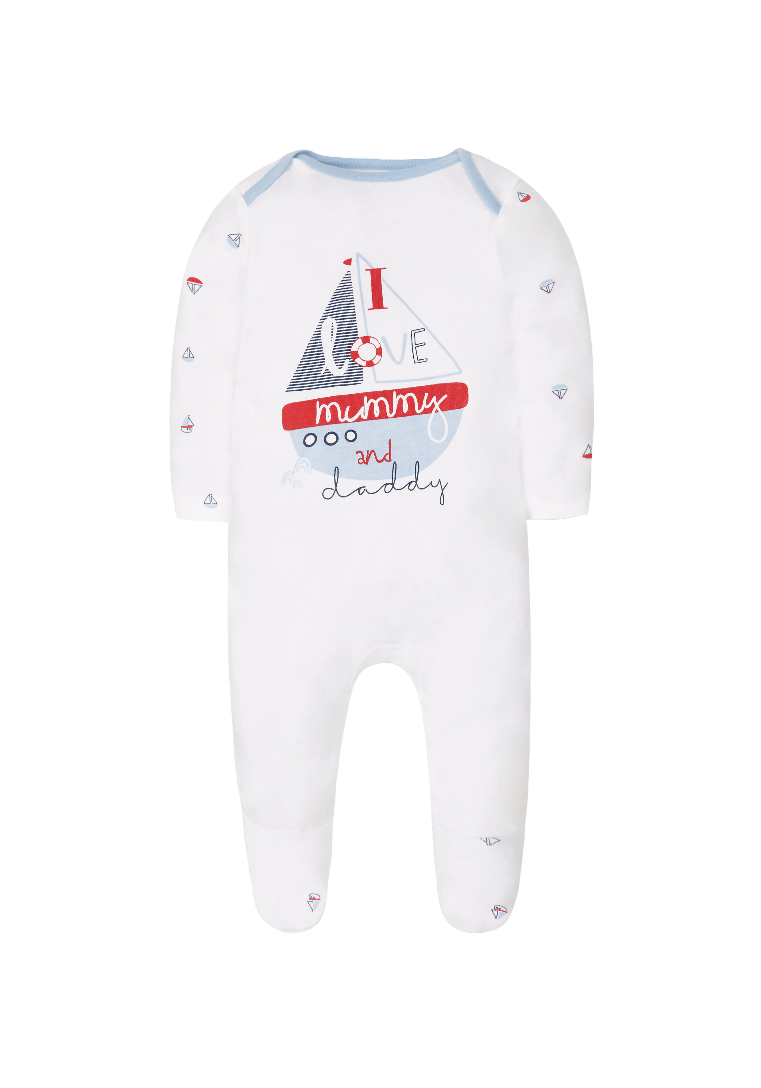 Mothercare | Boys Mummy And Daddy Romper - White