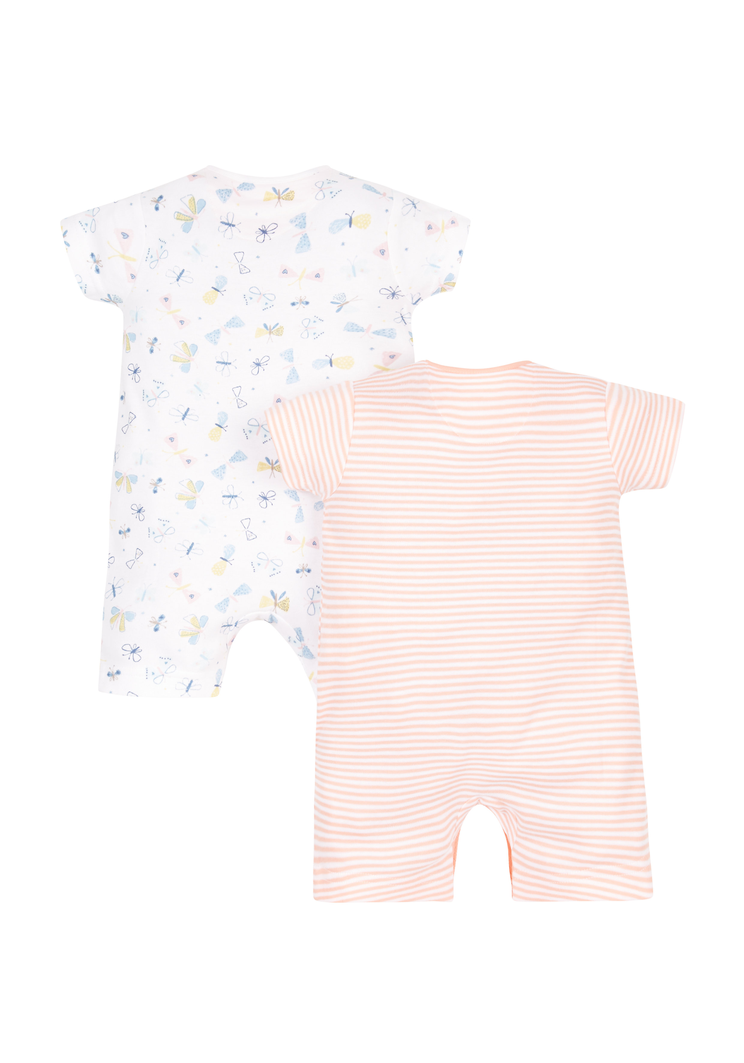 Mothercare | Girls Butterfly Rompers - 2 Pack - Multicolor