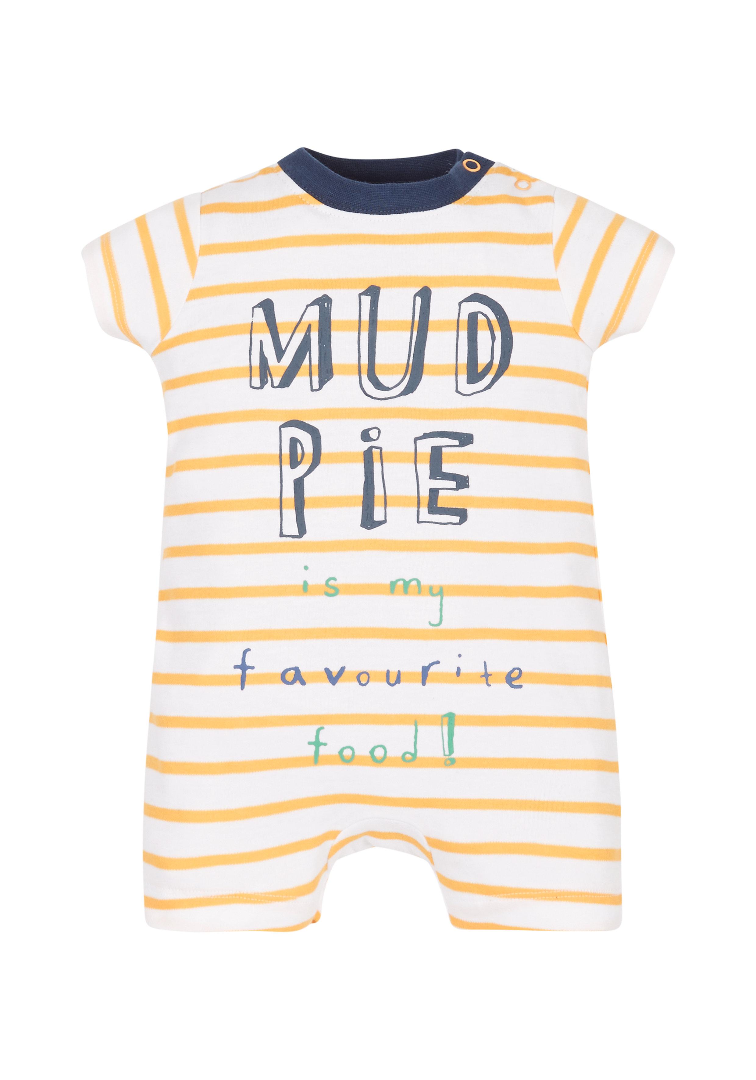Mothercare | Boys Mud Pie Romper  - Yellow