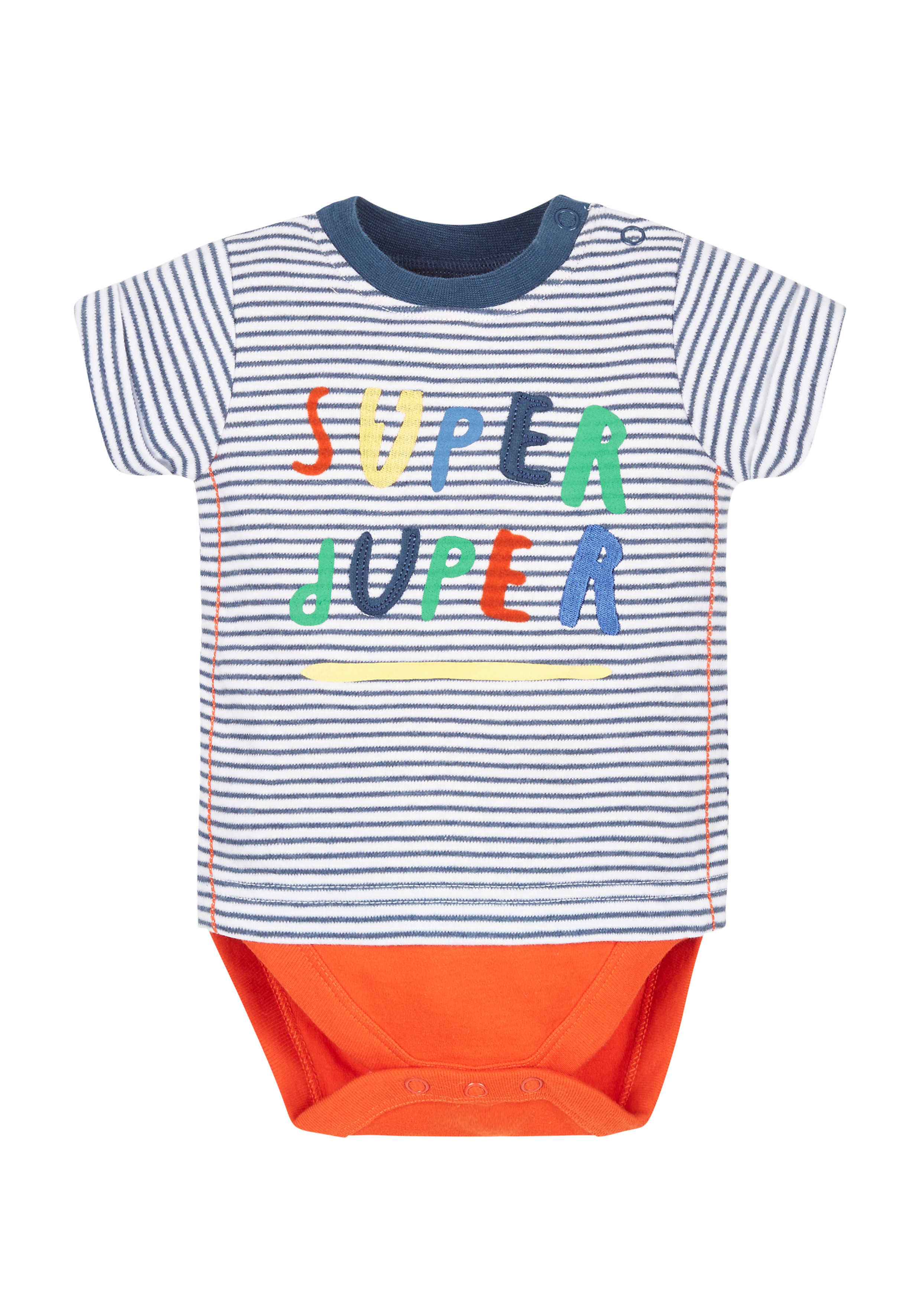 Mothercare | Boys Super Duper Mock T-Shirt Bodysuit - Multicolor