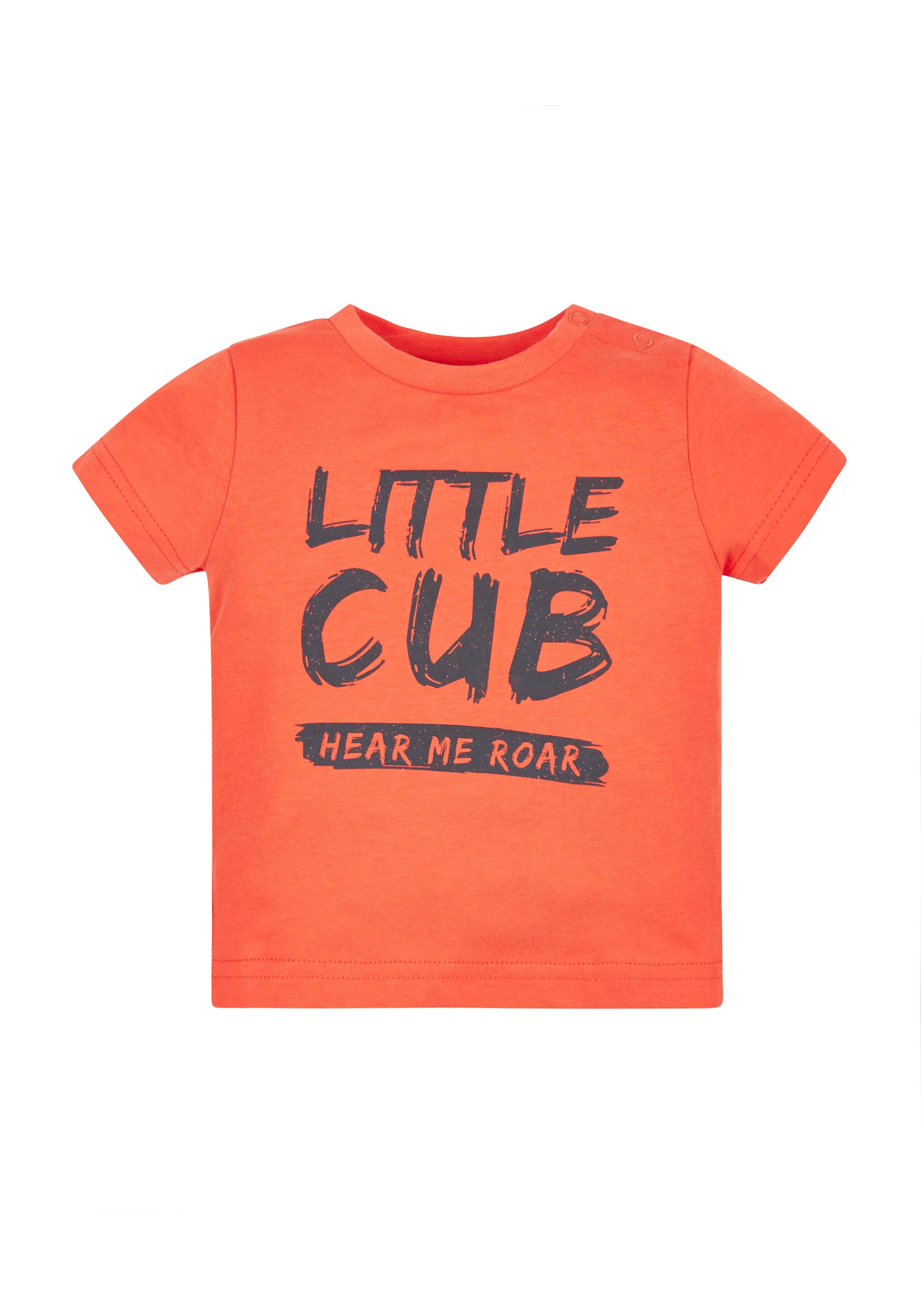 Mothercare | Boys Little Cub T-Shirt - Orange