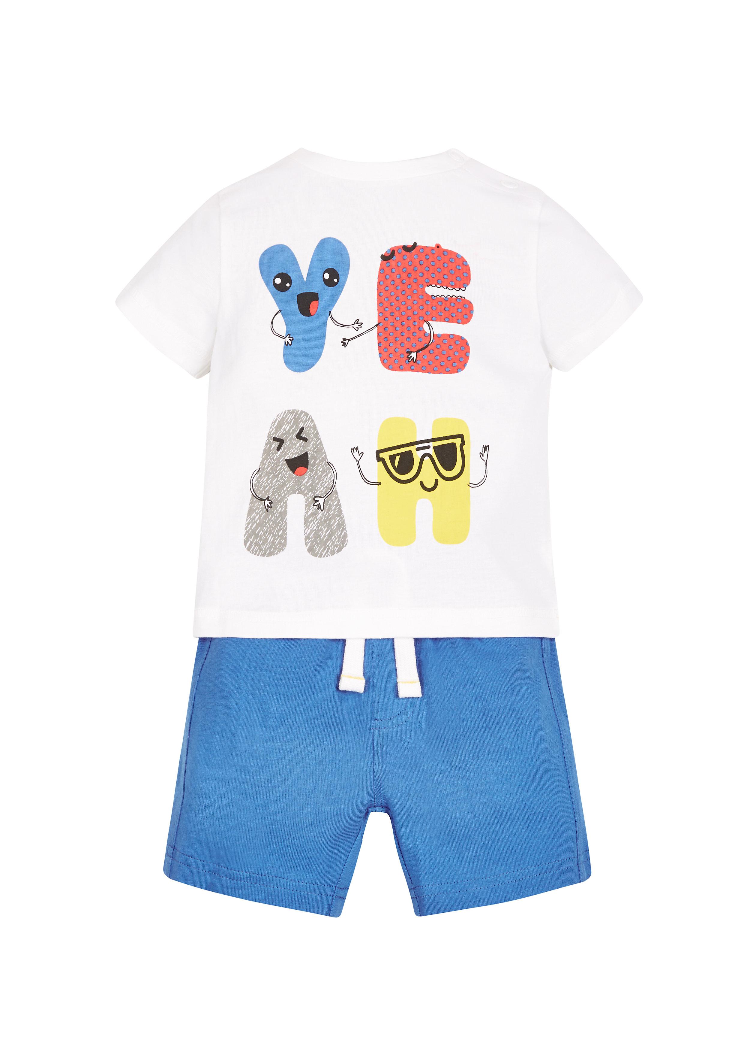 Mothercare   Boys Slogan T-Shirt And Shorts Set