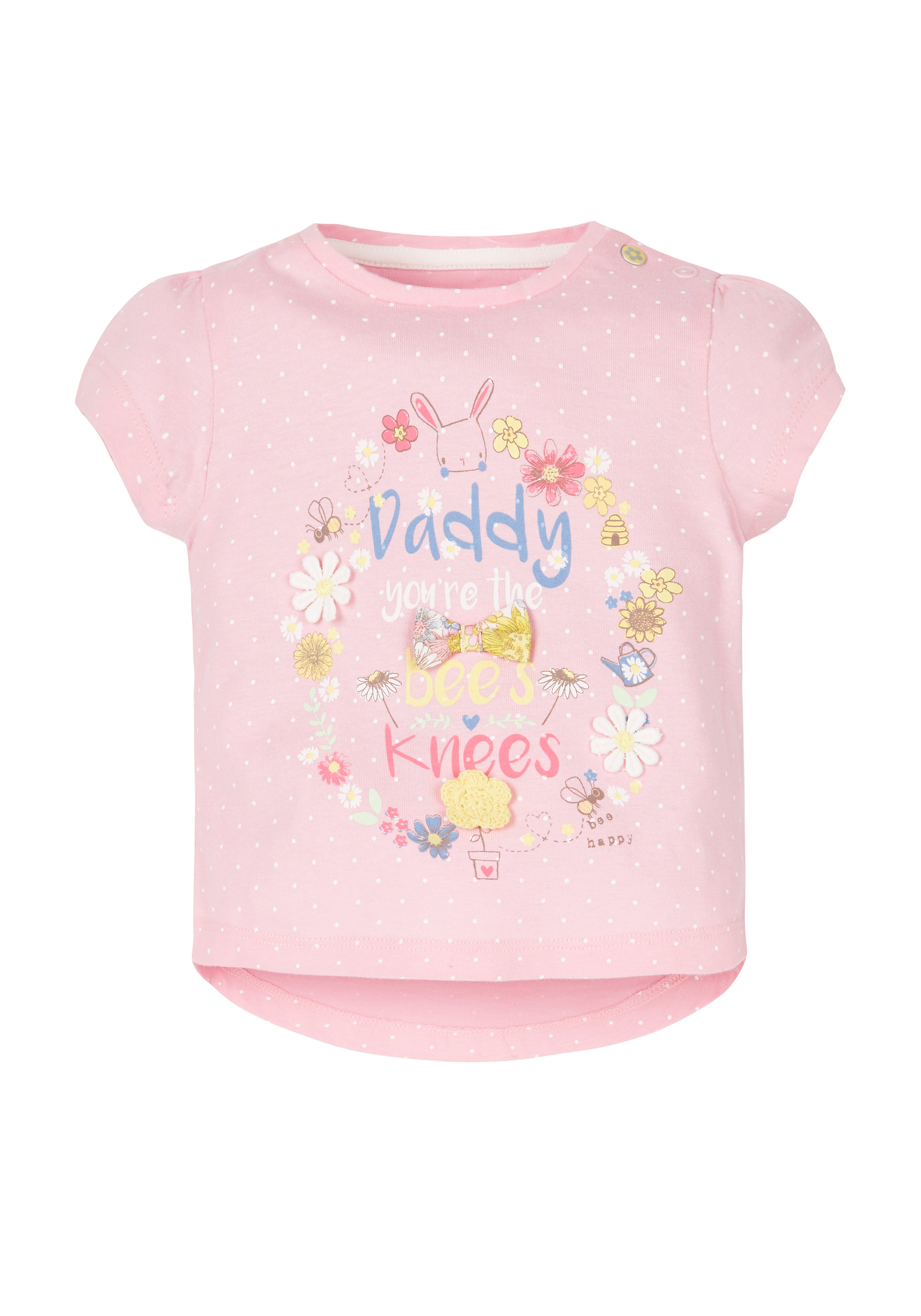 Mothercare | Girls Daddy T-Shirt - Pink