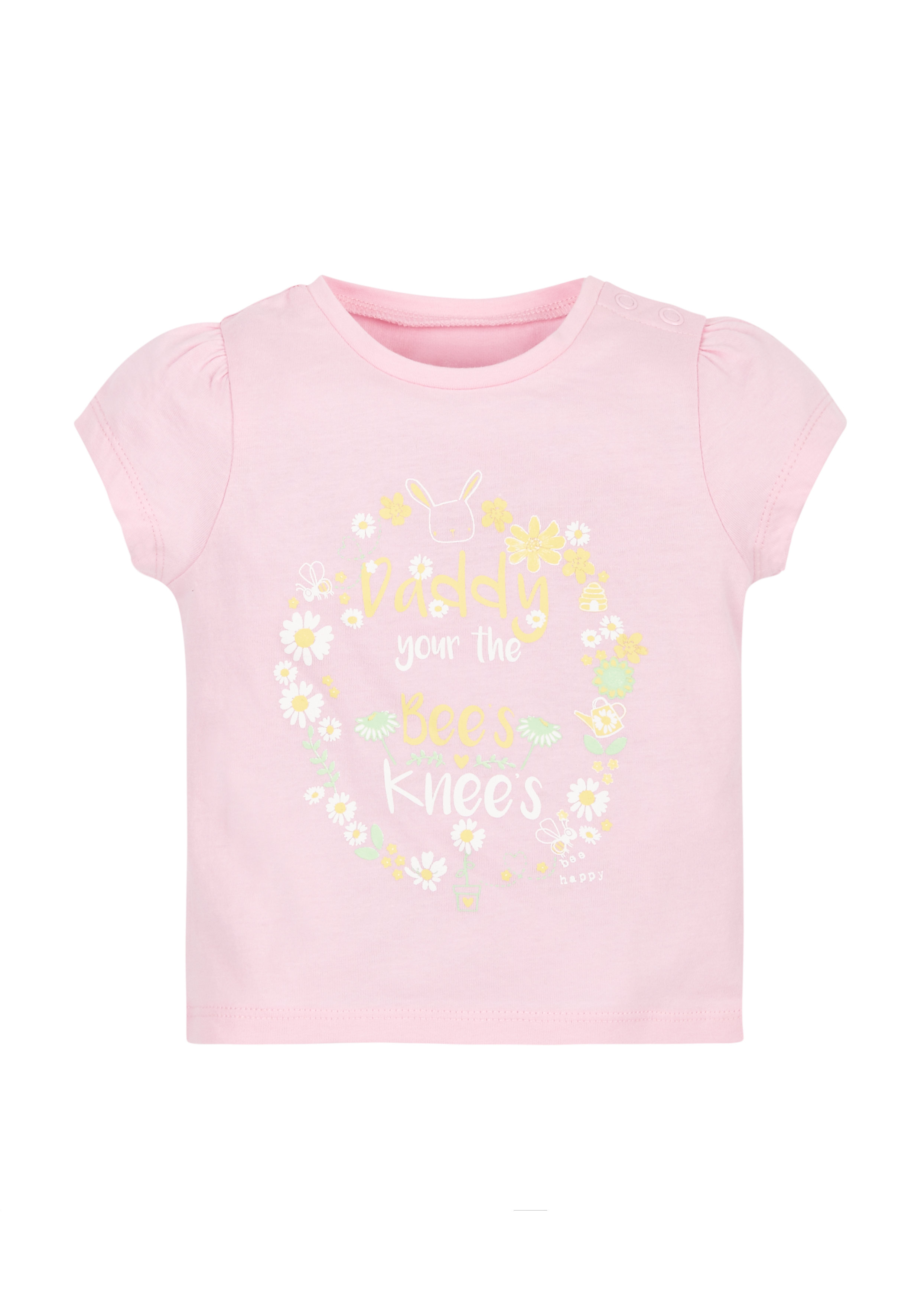 Mothercare   Girls Bee'S Knees T-Shirt - Pink
