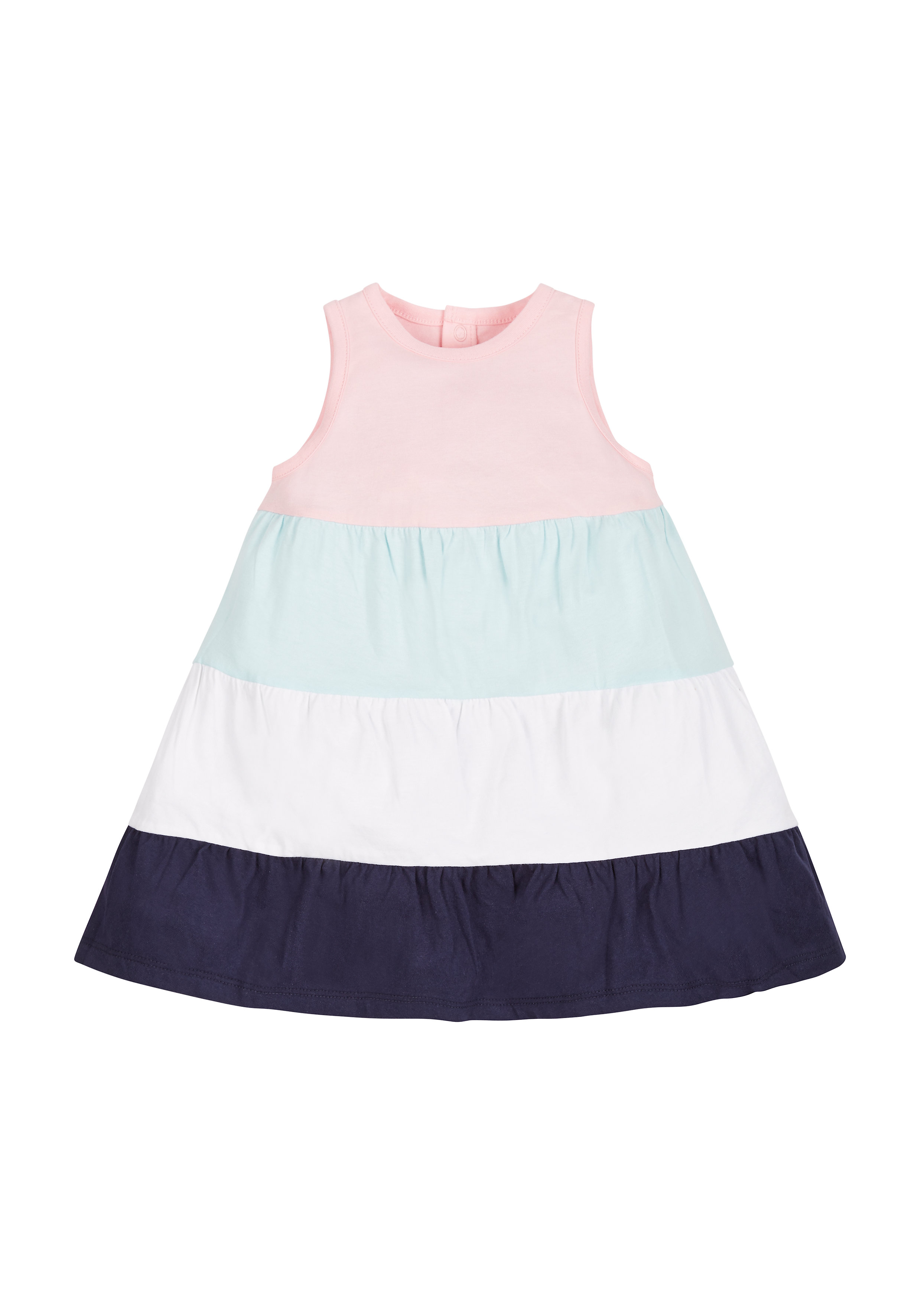 Mothercare   Girls Tiered Colourblock Dress