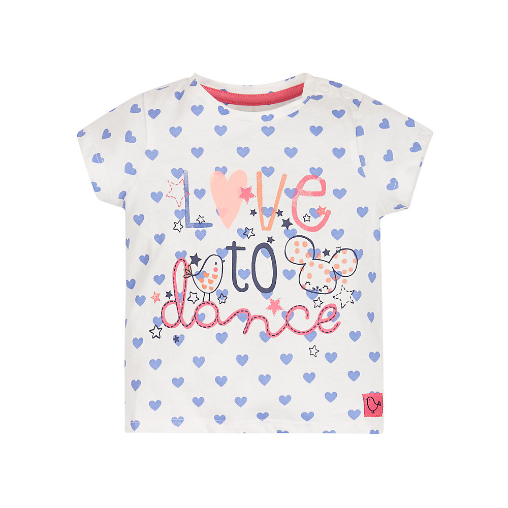 Mothercare | Girls Love To Dance T-Shirt - White