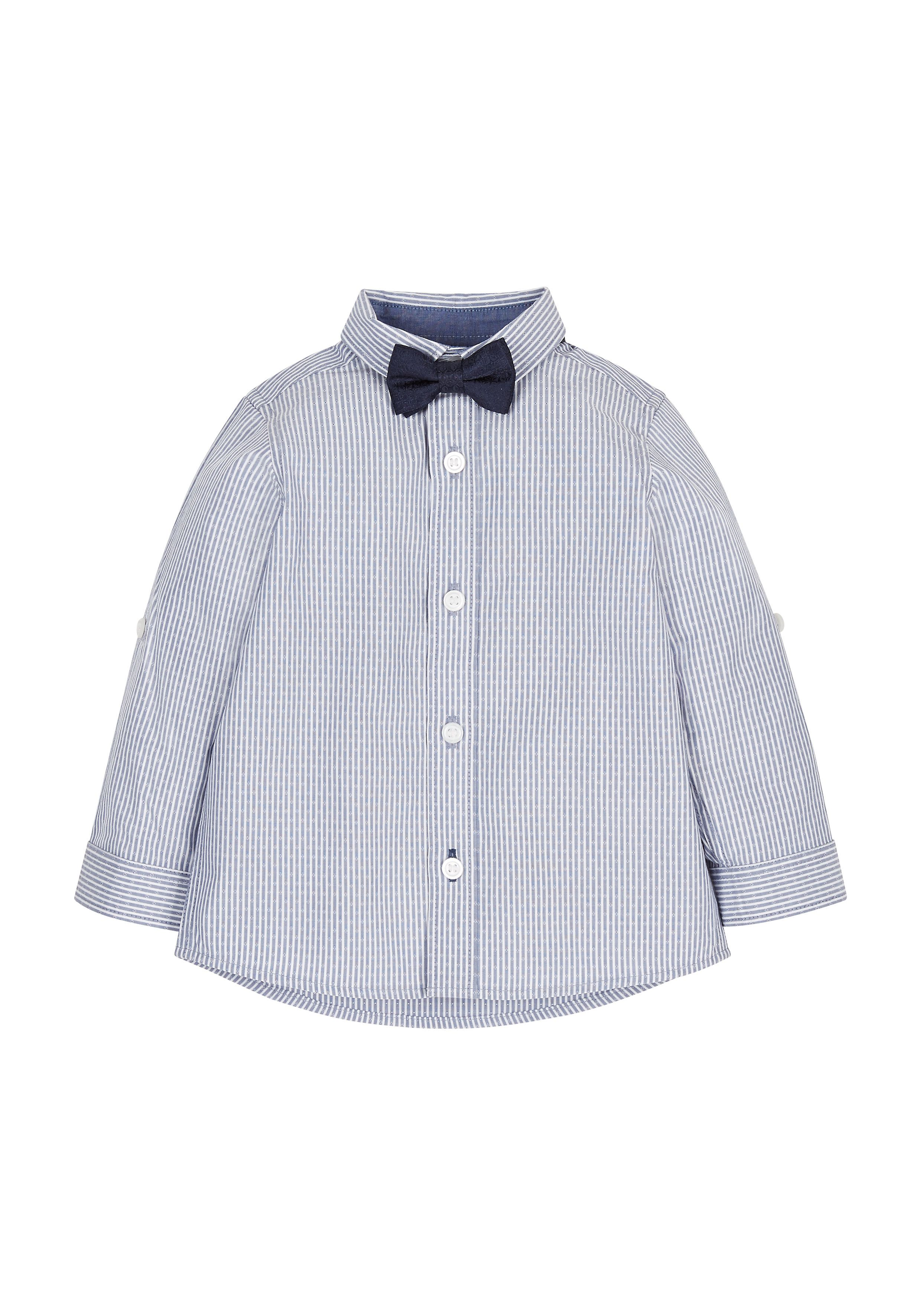 Mothercare | Striped Shirt And Bow Tie Set