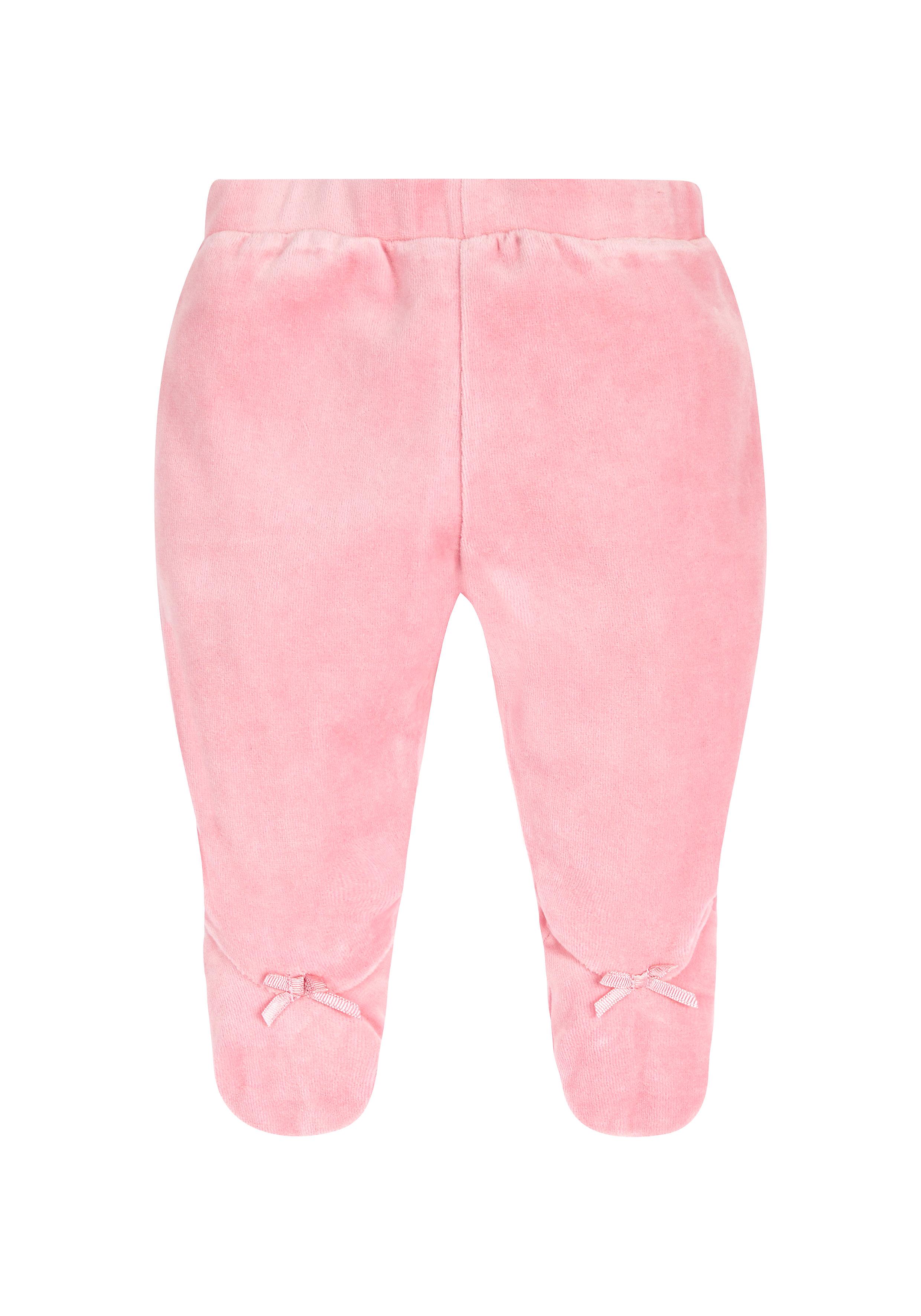 Mothercare | Girls Velour Leggings Bow Detail - Pink