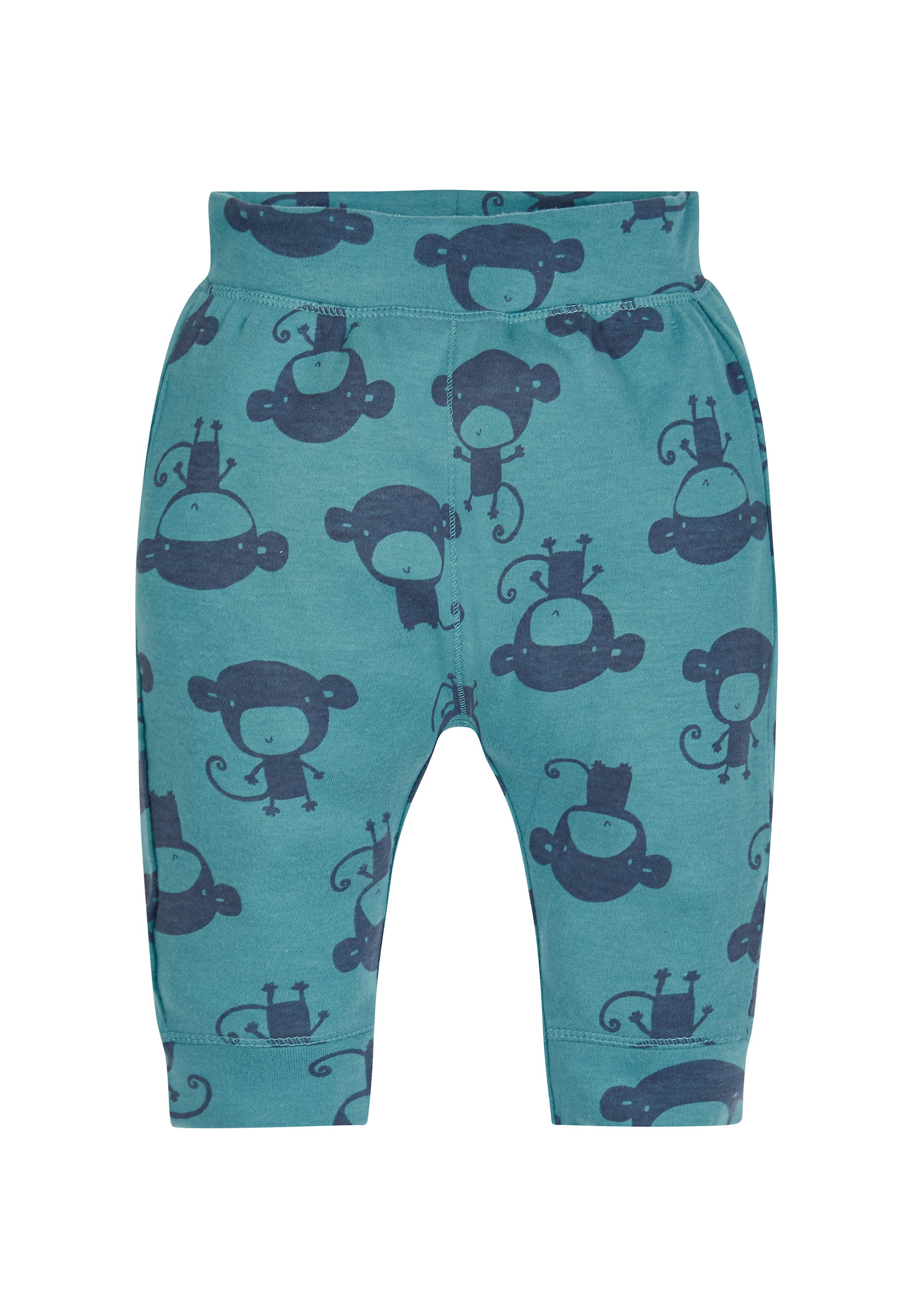 Mothercare | Boys Ribwaist Monkey Joggers - Blue
