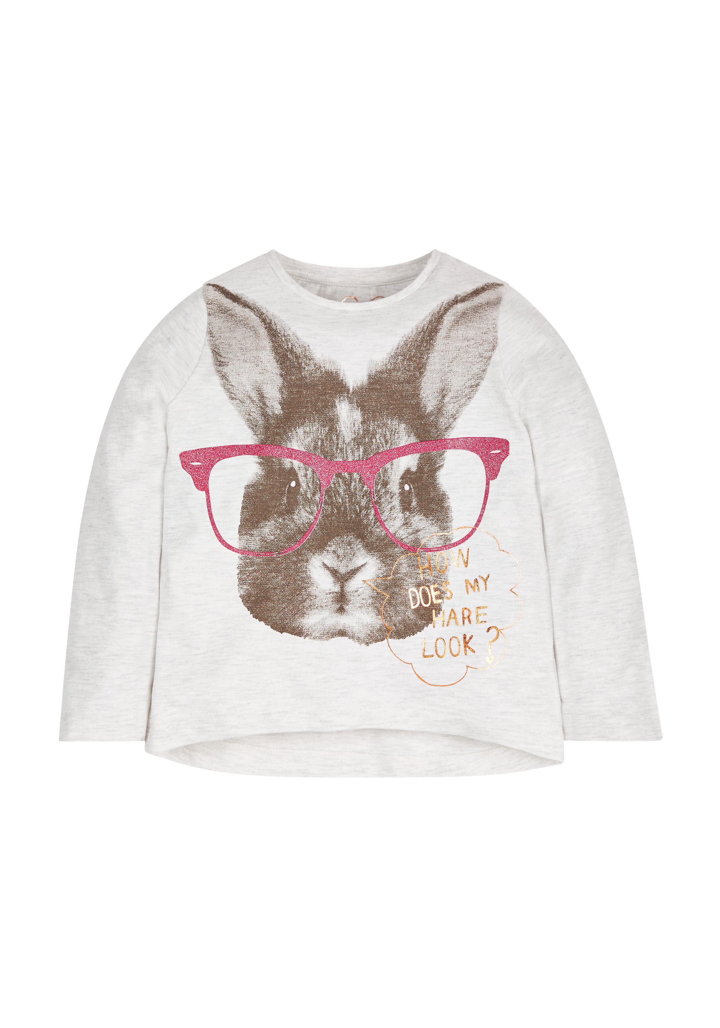 Mothercare   Girls Bunny T-Shirt  - White