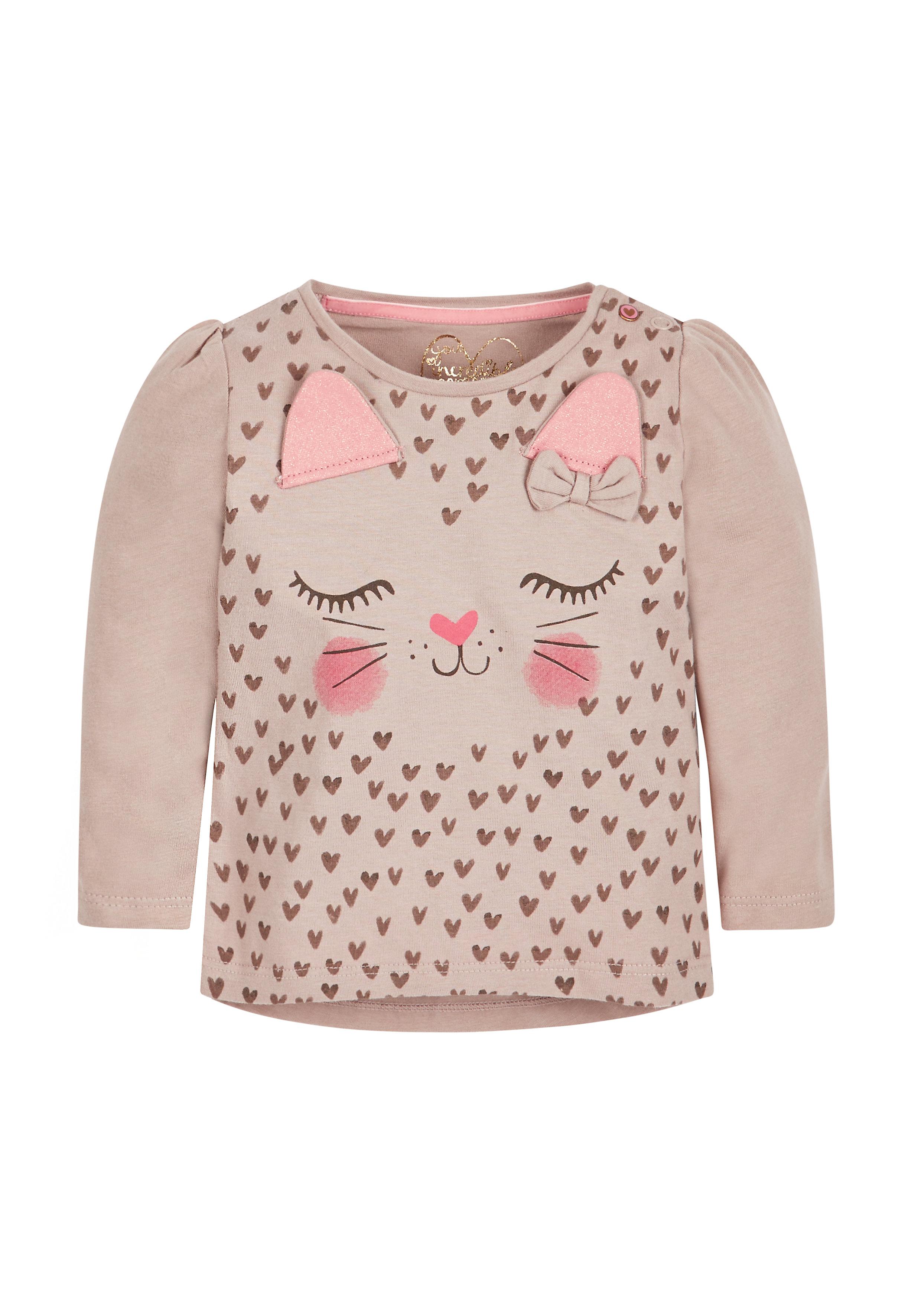 Mothercare | Girls Snow Leopard T-Shirt - Pink