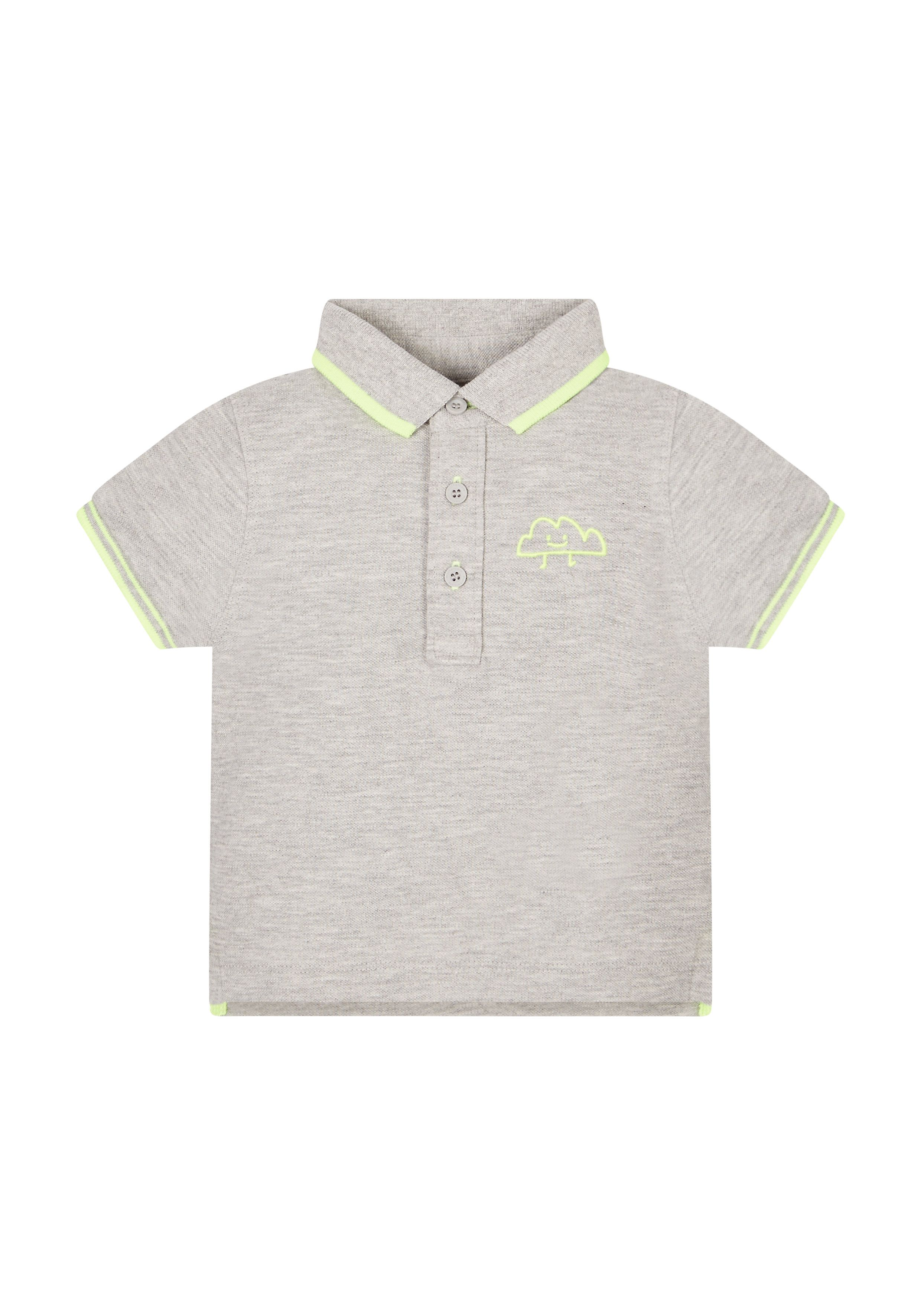 Mothercare   Grey And Yellow Polo Shirt