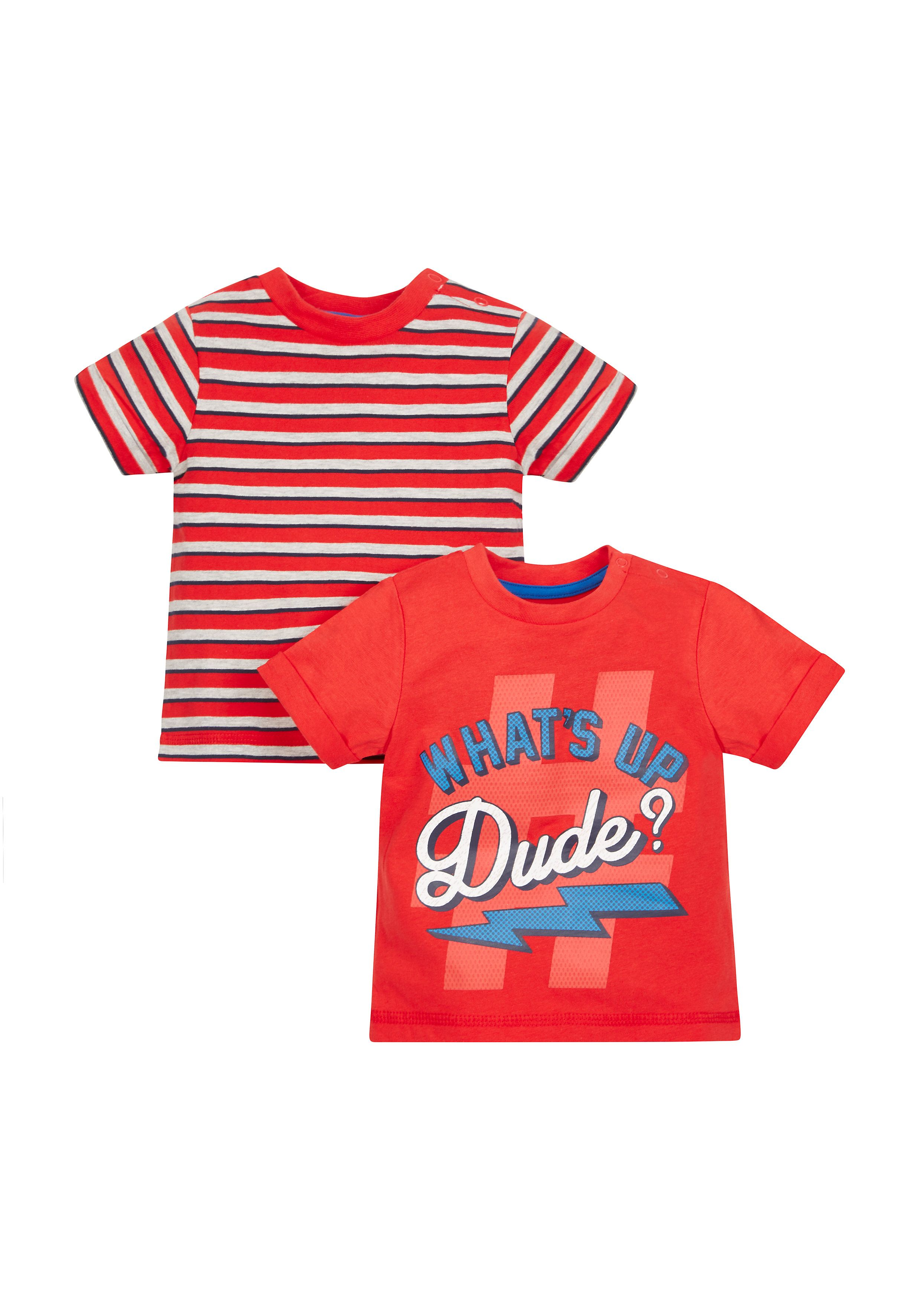 Mothercare | What'S Up Dude T-Shirts - 2 Pack