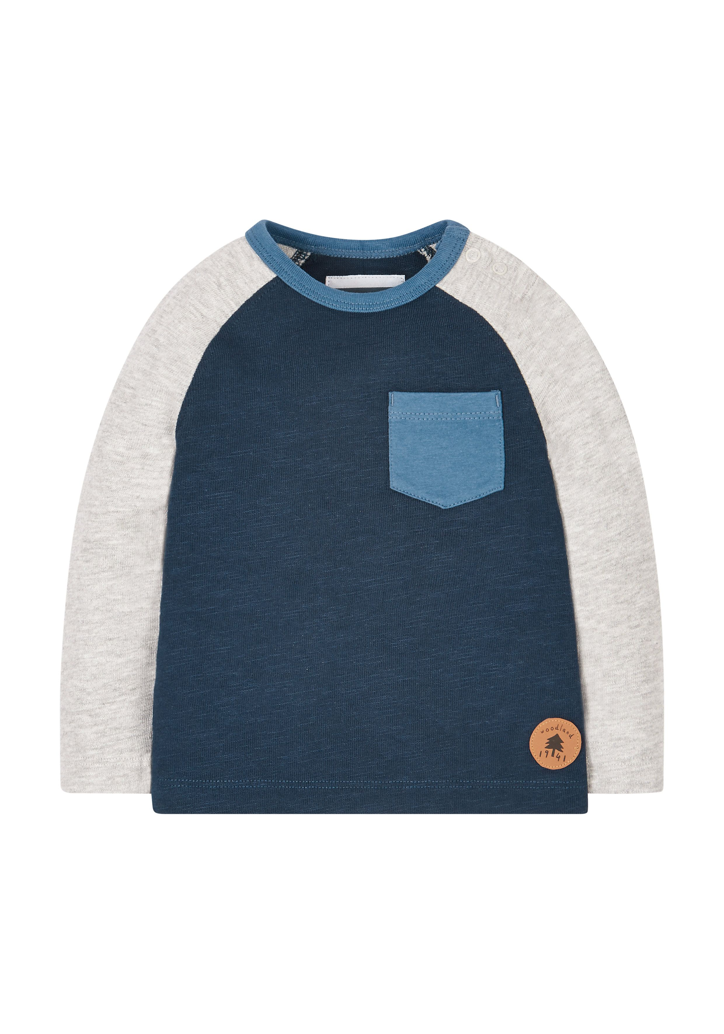 Mothercare   Navy And Grey Raglan T-Shirt