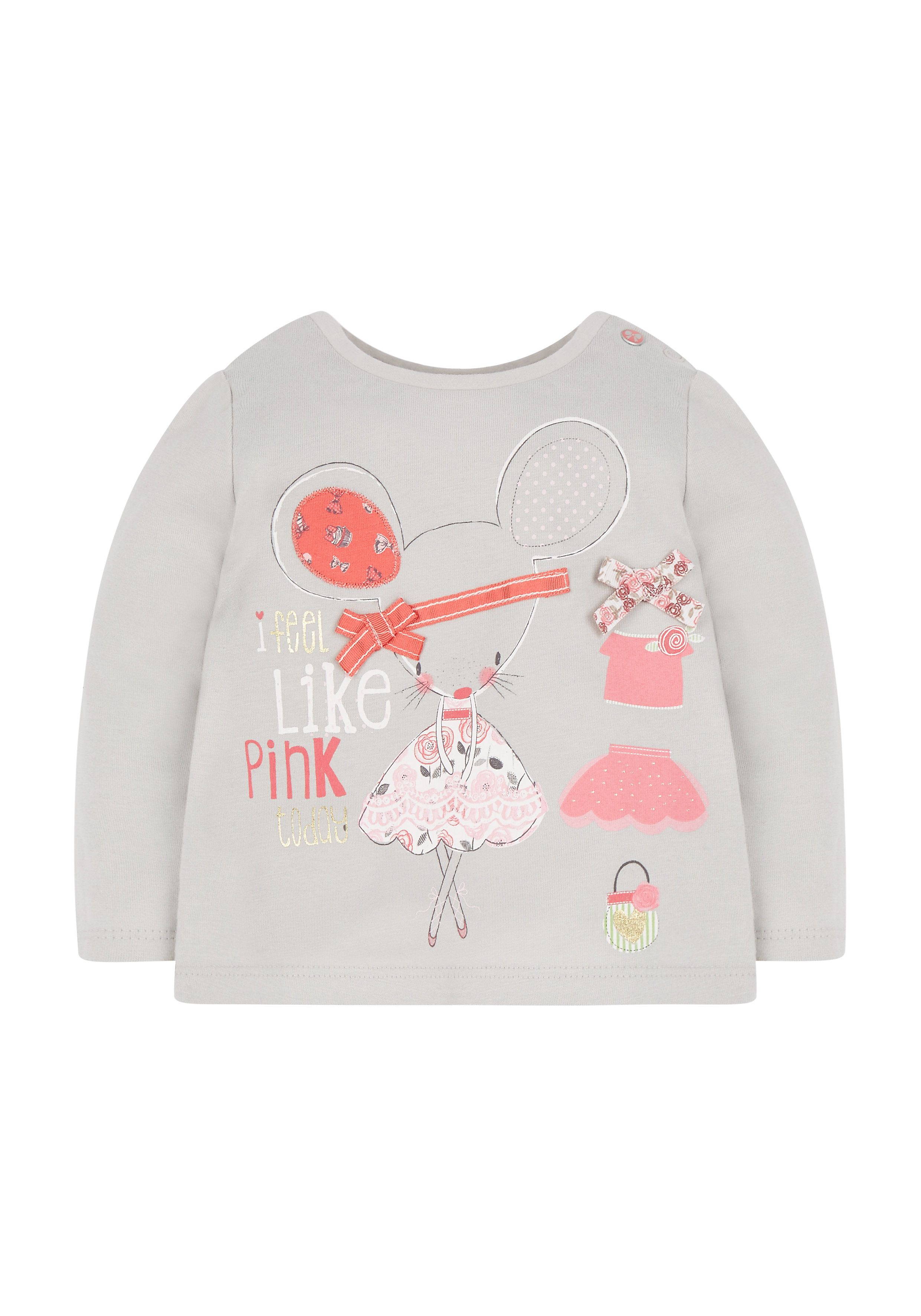 Mothercare | Grey Mouse T-Shirt