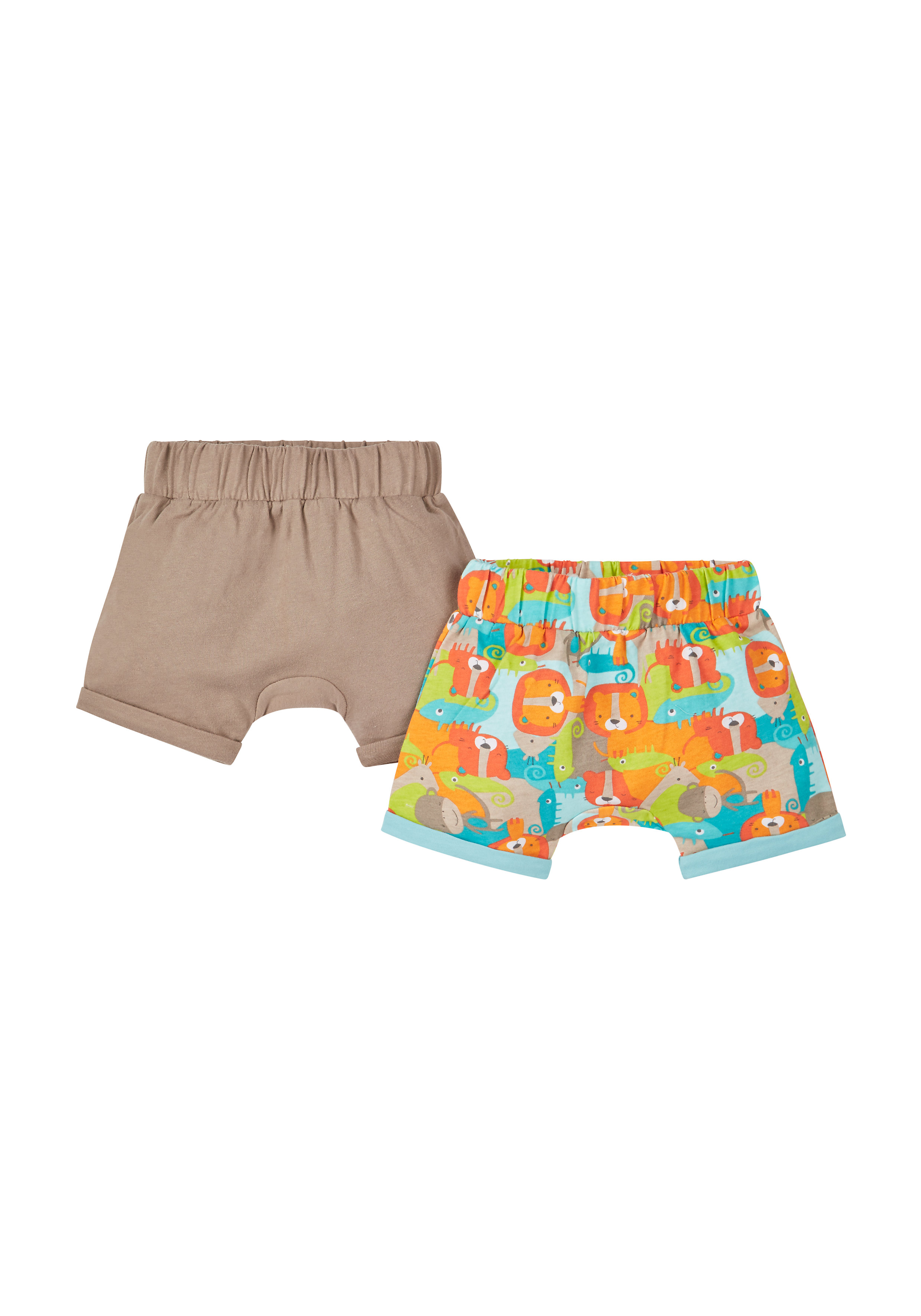 Mothercare | Boys Animal Print Shorts - Pack Of 2 - Multicolor