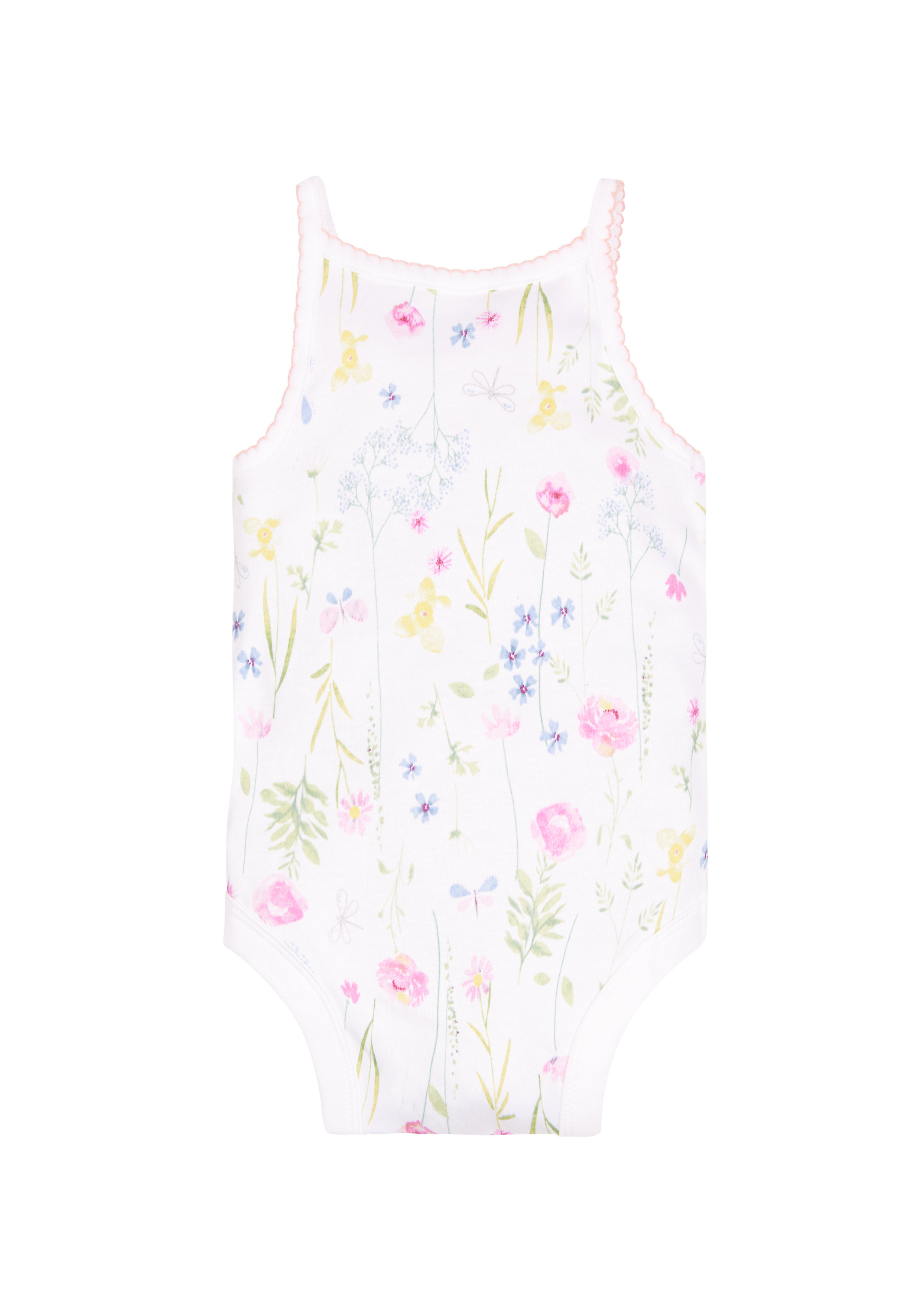 Mothercare | Girls Floral Cami Bodysuit - White