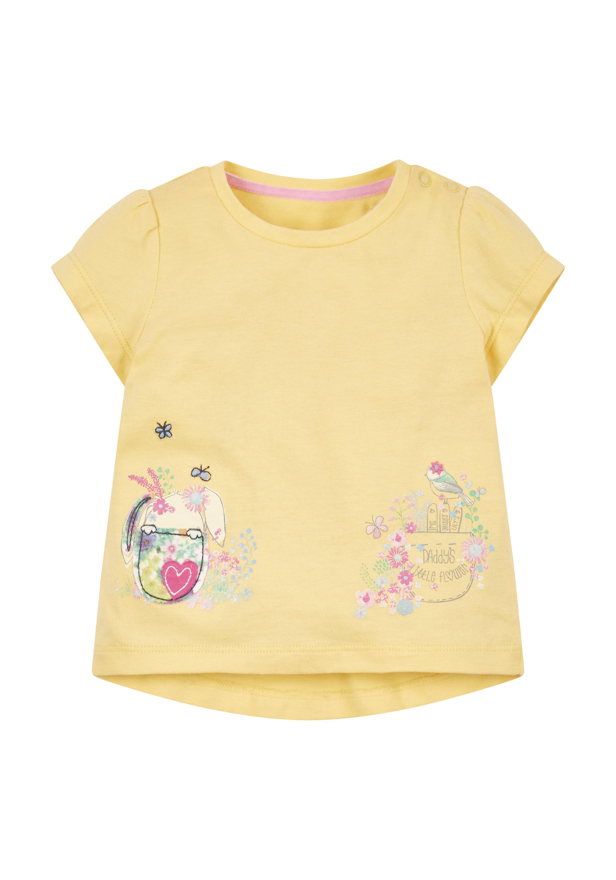 Mothercare | Girls Daddy'S Little Flower T-Shirt - Yellow