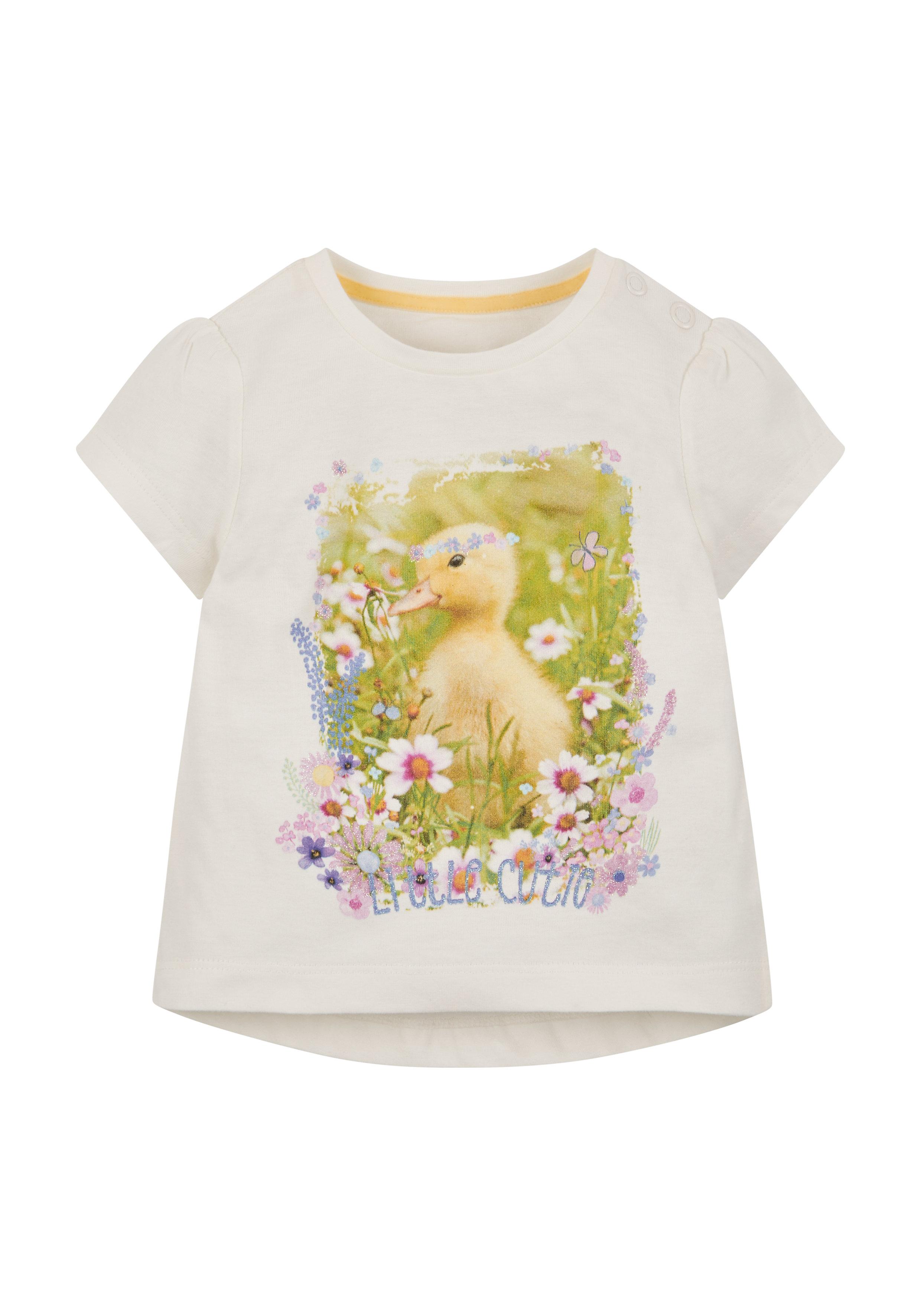 Mothercare | Girls Little Chick T-Shirt - White