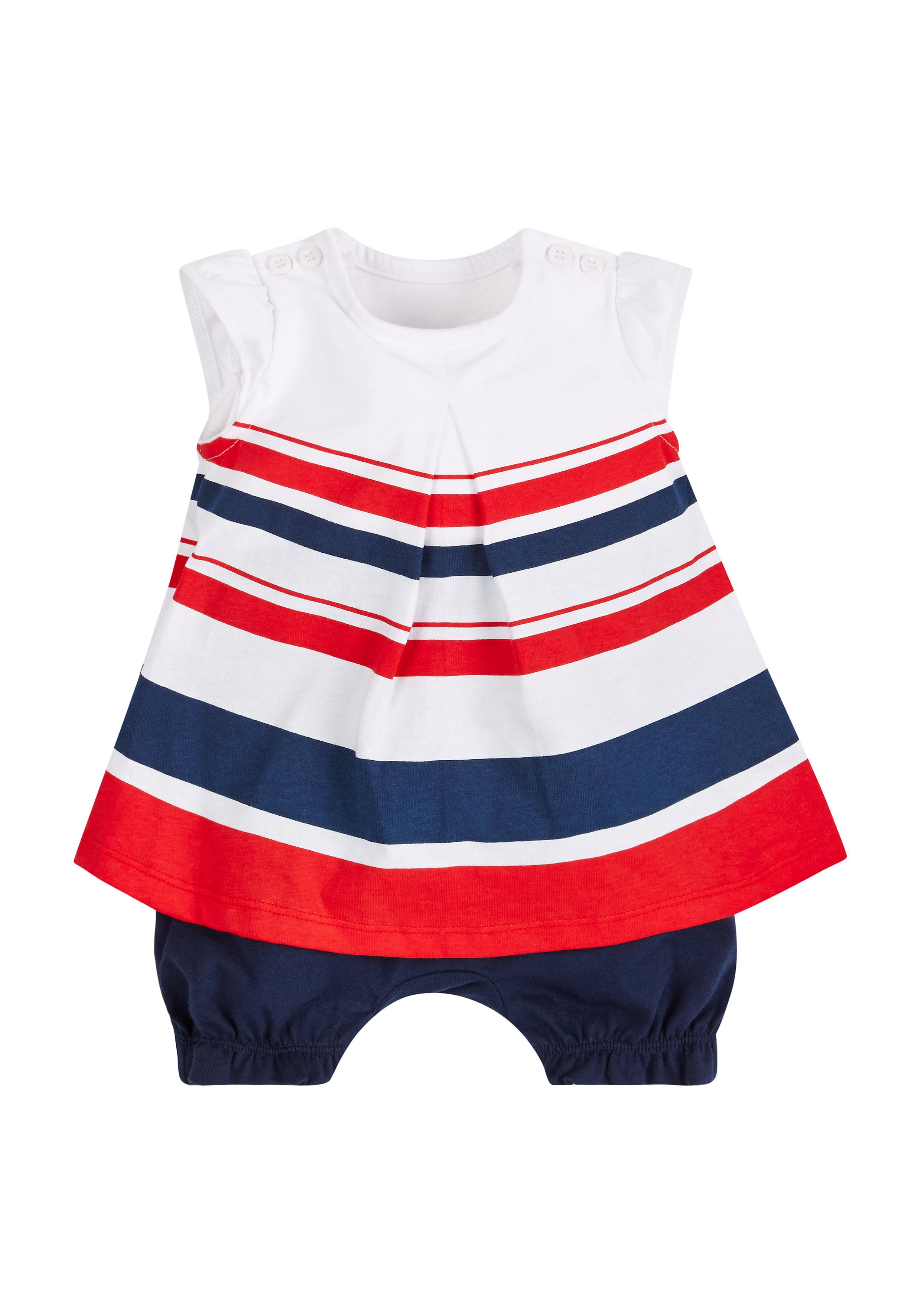 Mothercare | Girls Nautical Striped Romper Dress