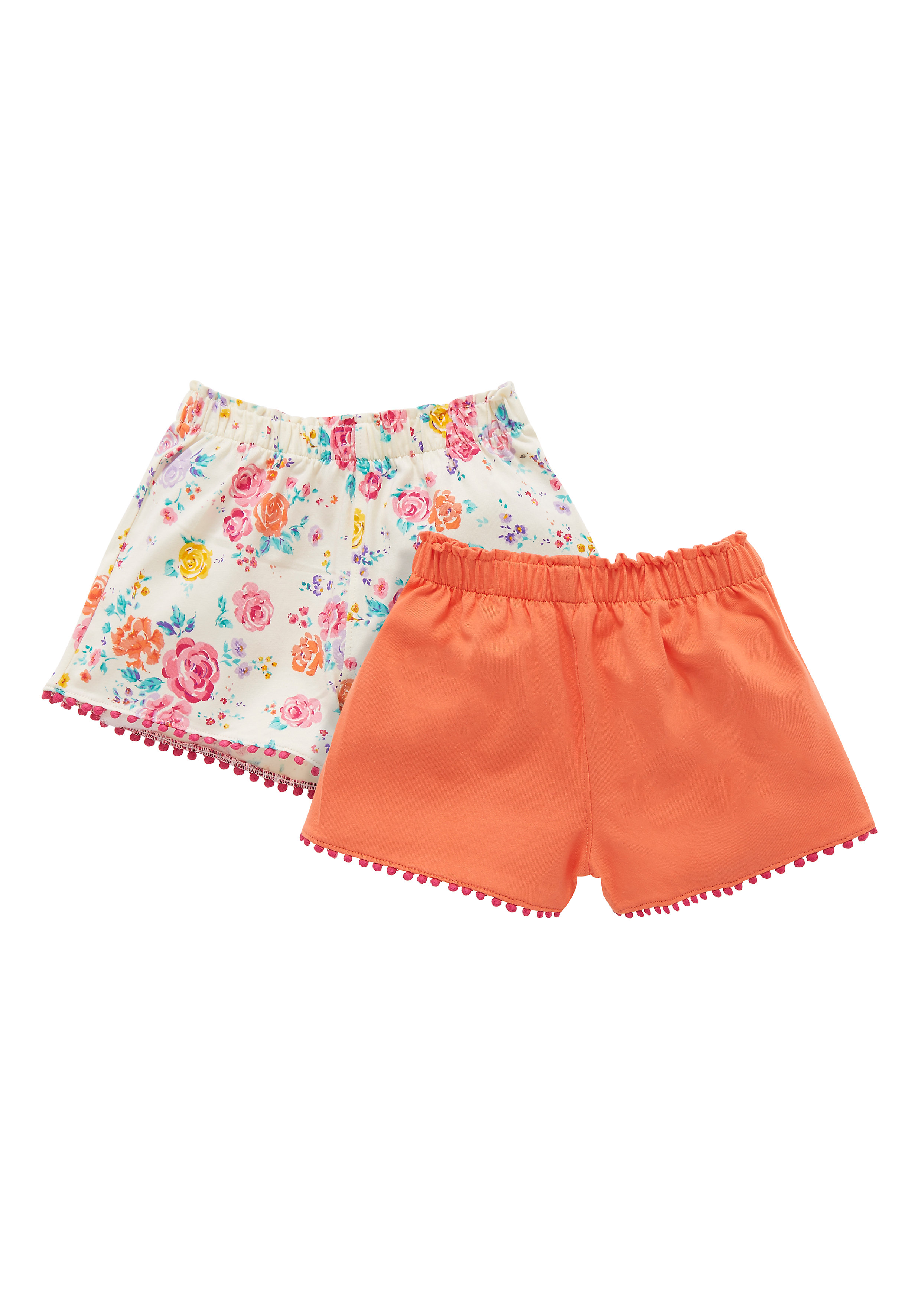 Mothercare | Girls Jersey Shorts - 2 Pack - Orange