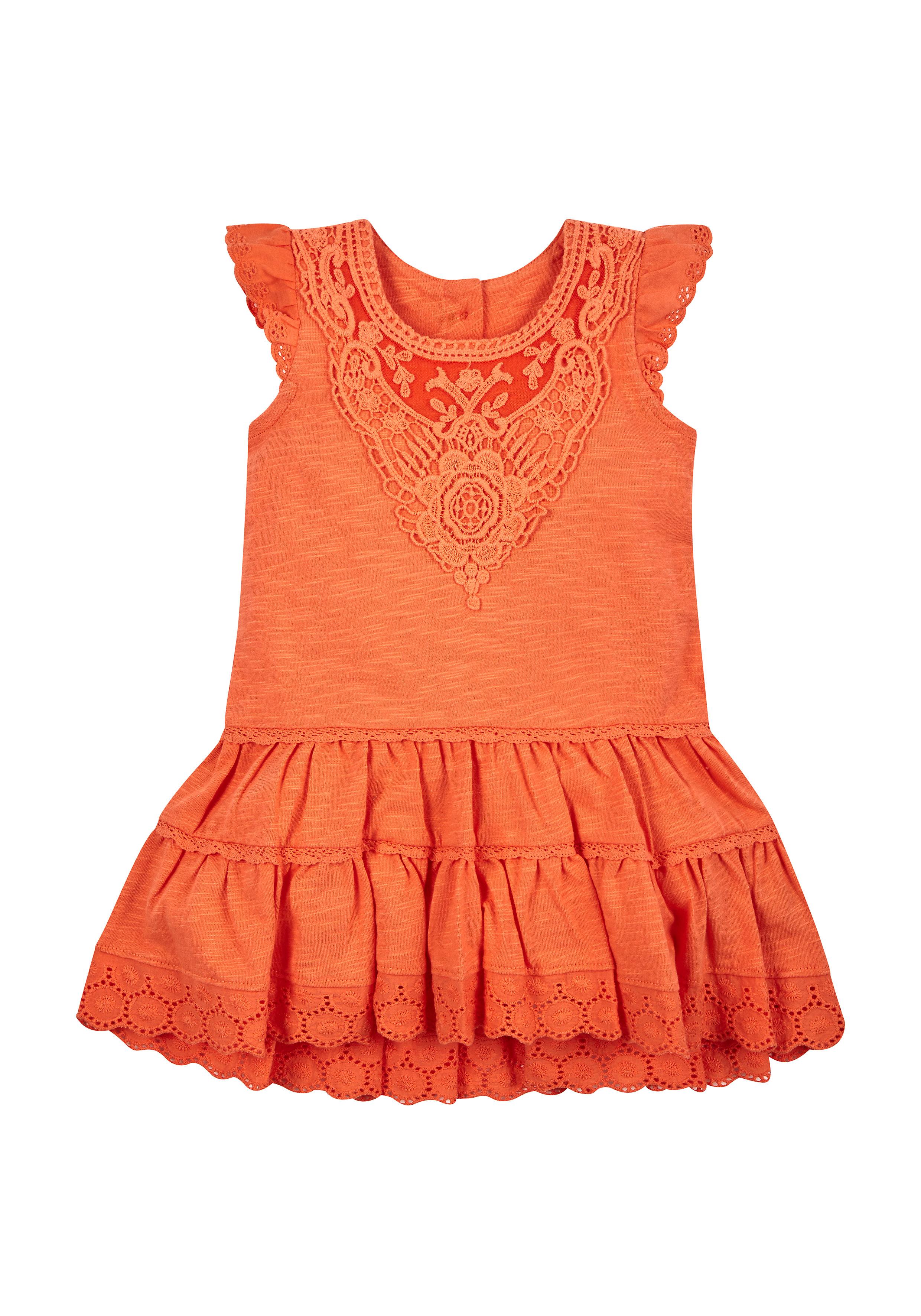 Mothercare | Girls Crochet Dress - Orange