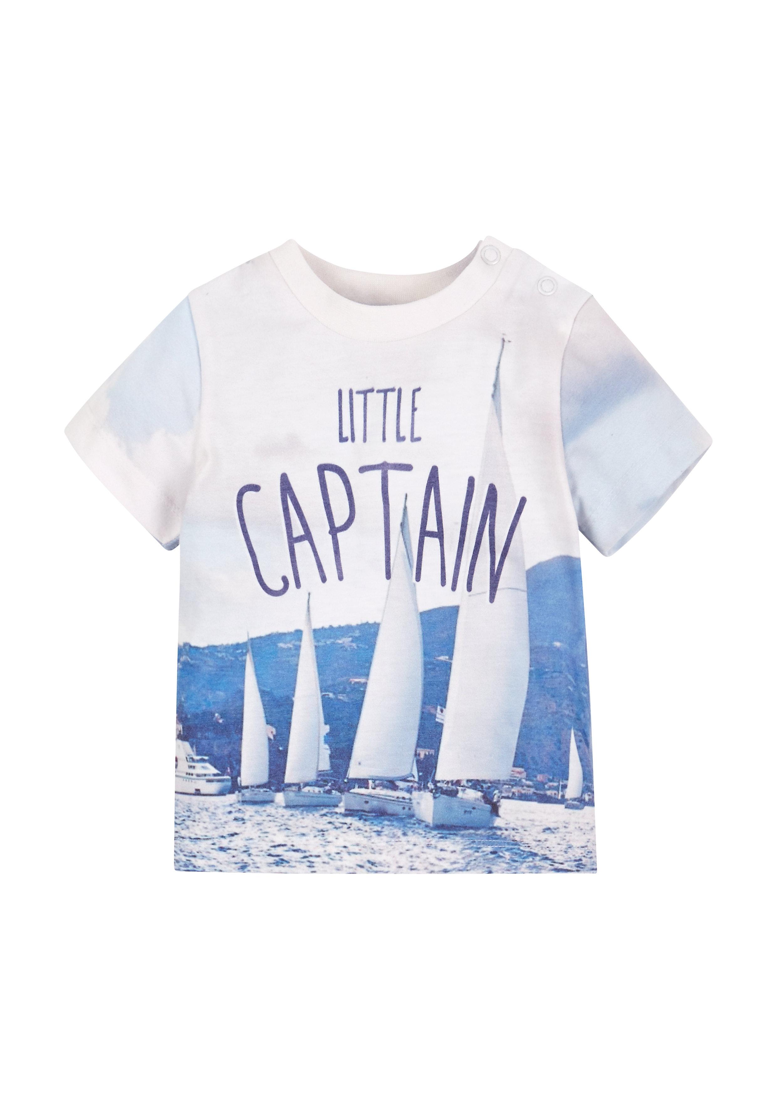 Mothercare | Boys Little Captain T-Shirt - Multicolor