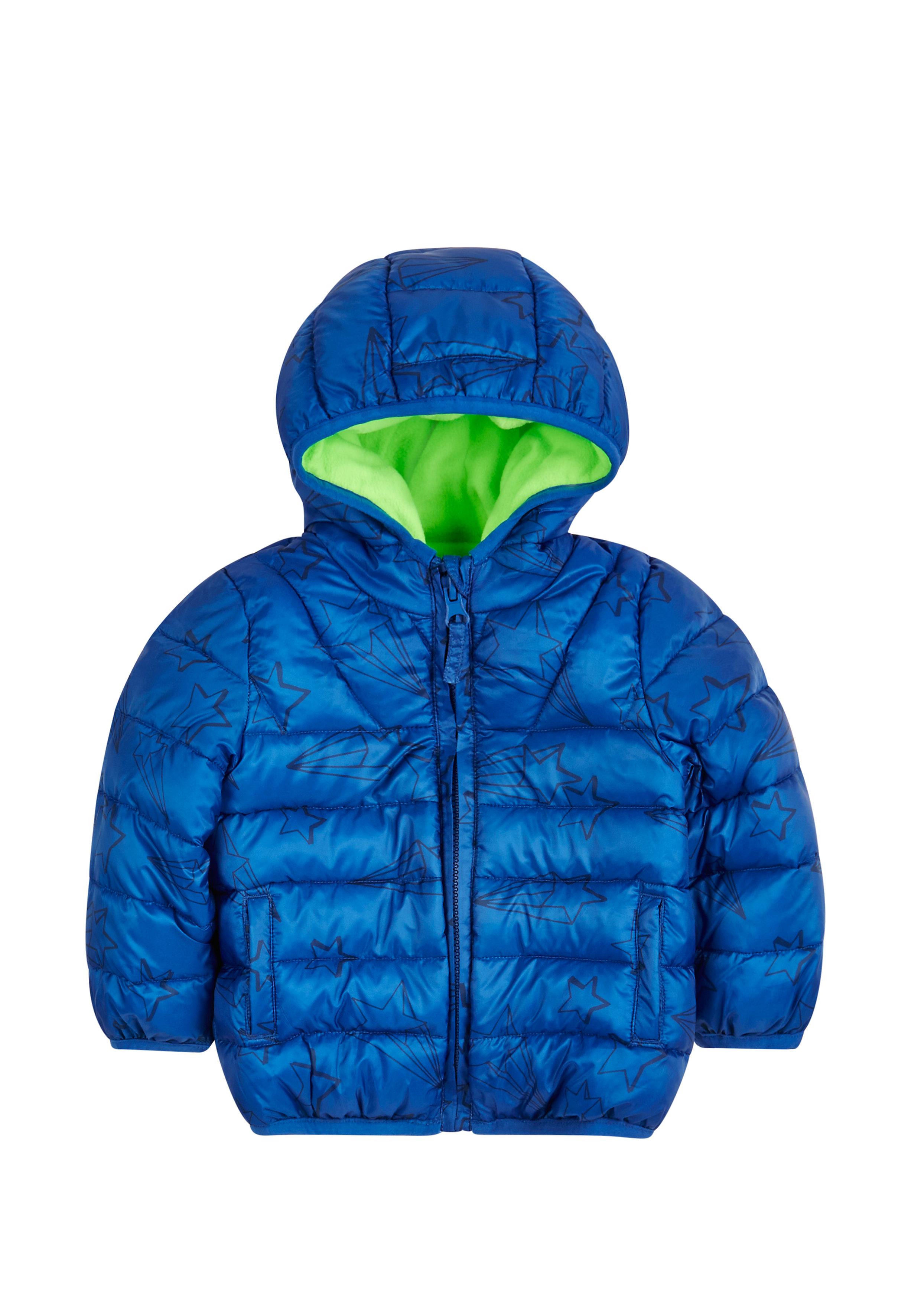 Mothercare | Boys  Star Print Puffa Coat - Blue