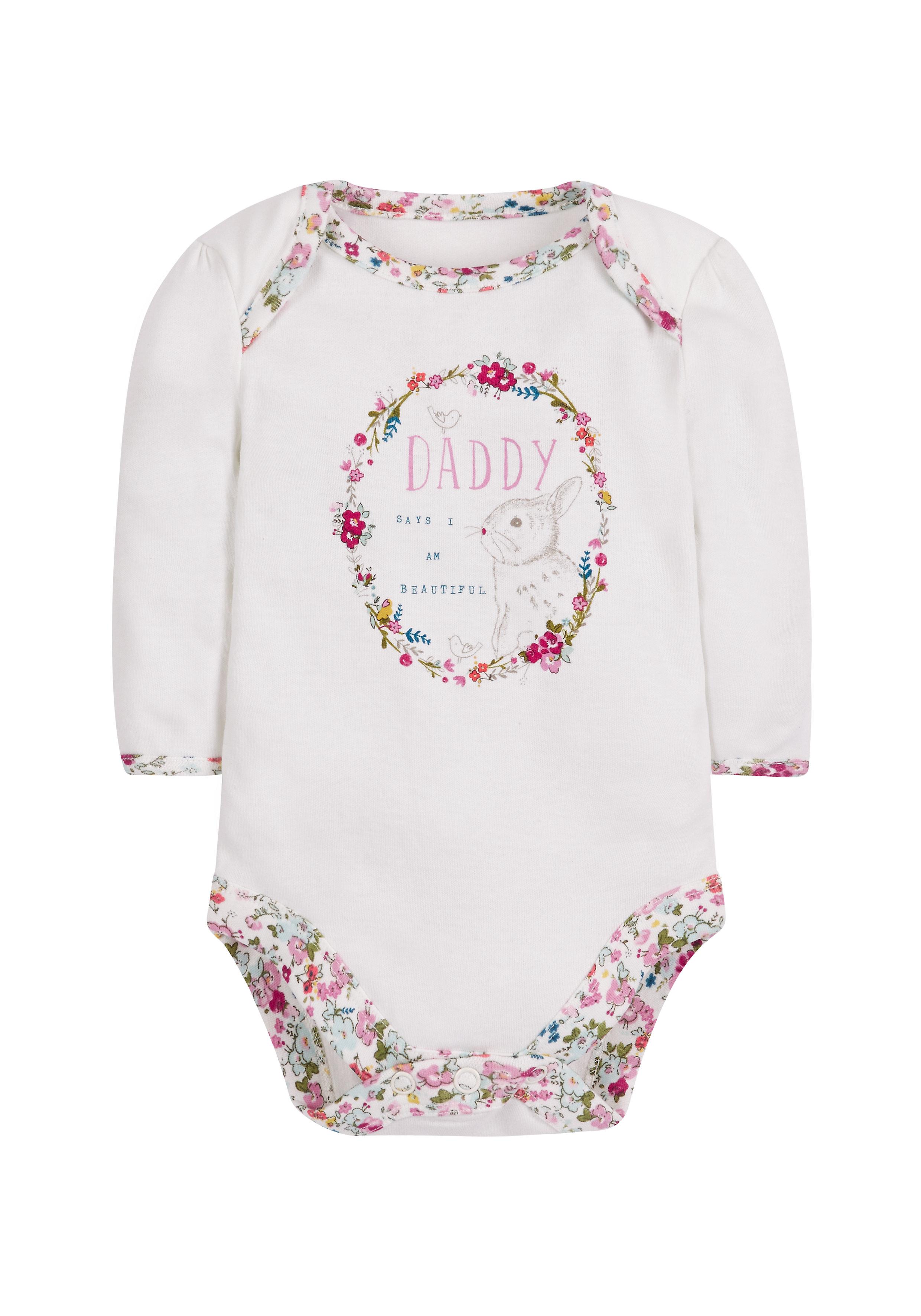 Mothercare | Girls Beautiful Bunny Bodysuit - Cream