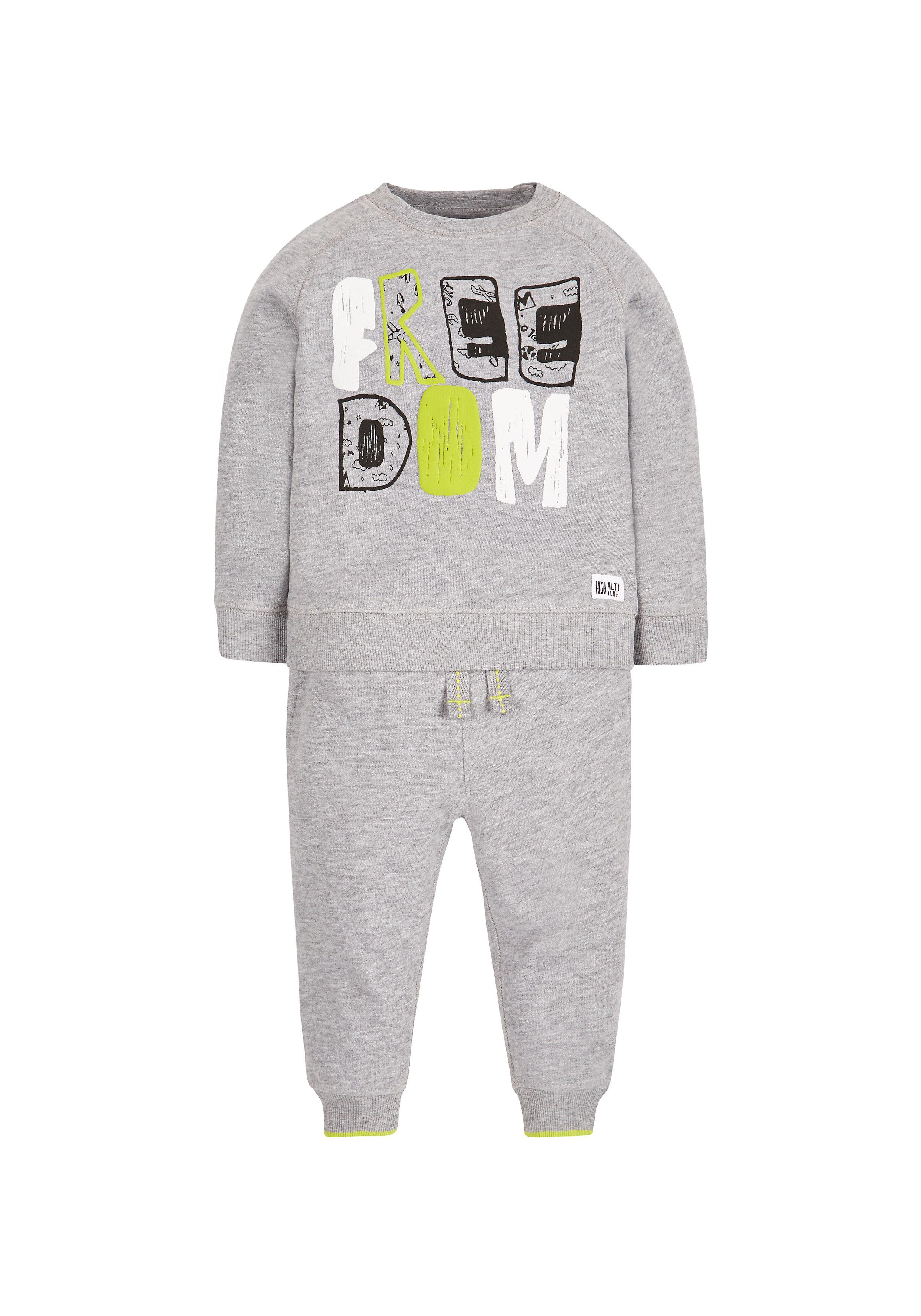 Mothercare   Boys Freedom Joggers Set - Grey