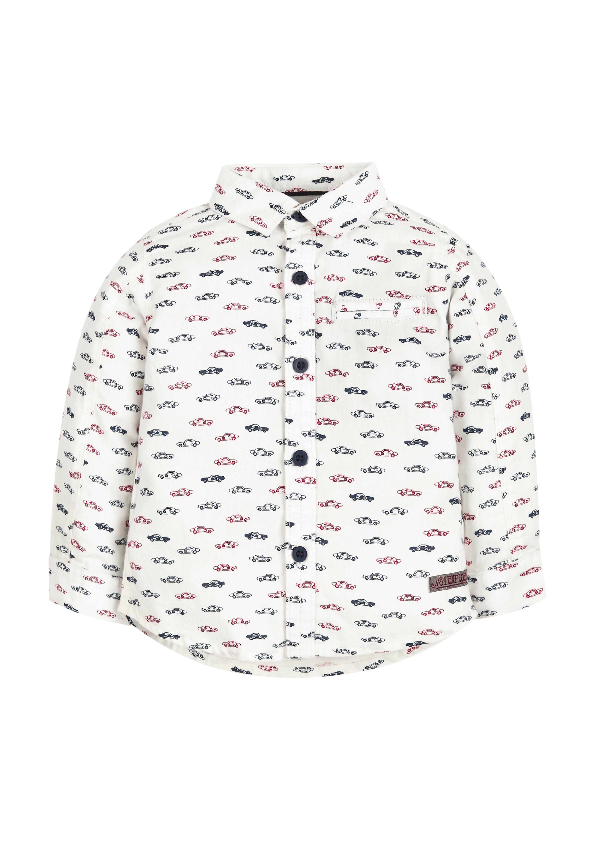 Mothercare | Boys Car Print Twill Shirt - White