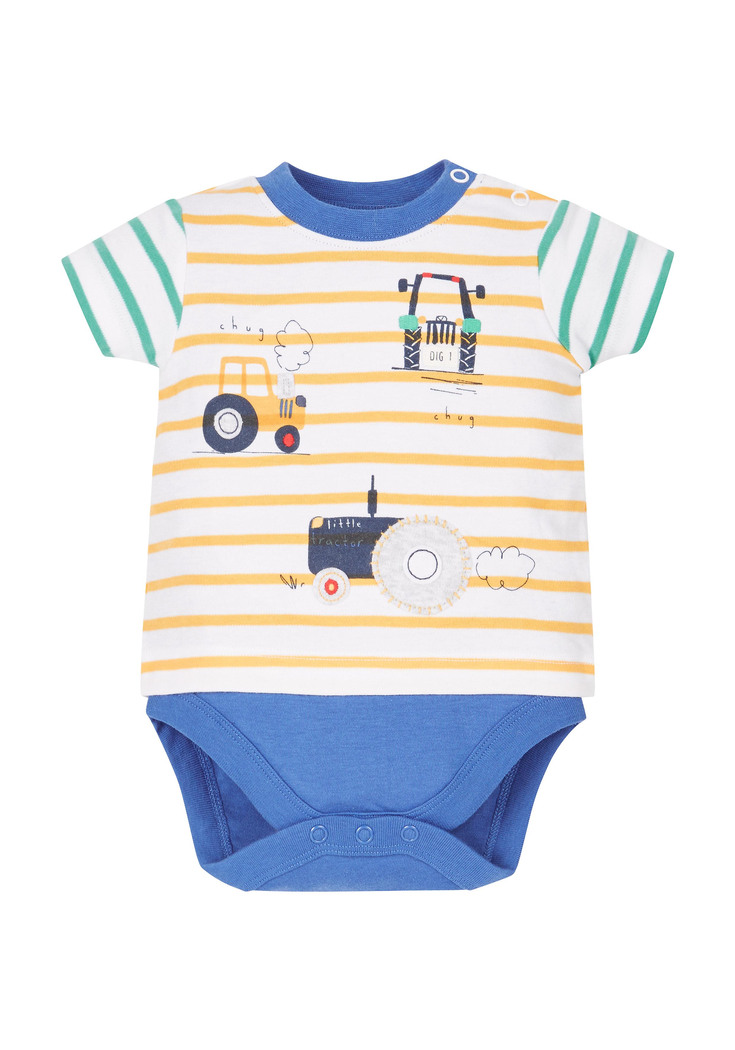 Mothercare | Boys Tractor Bodysuit - Multicolor