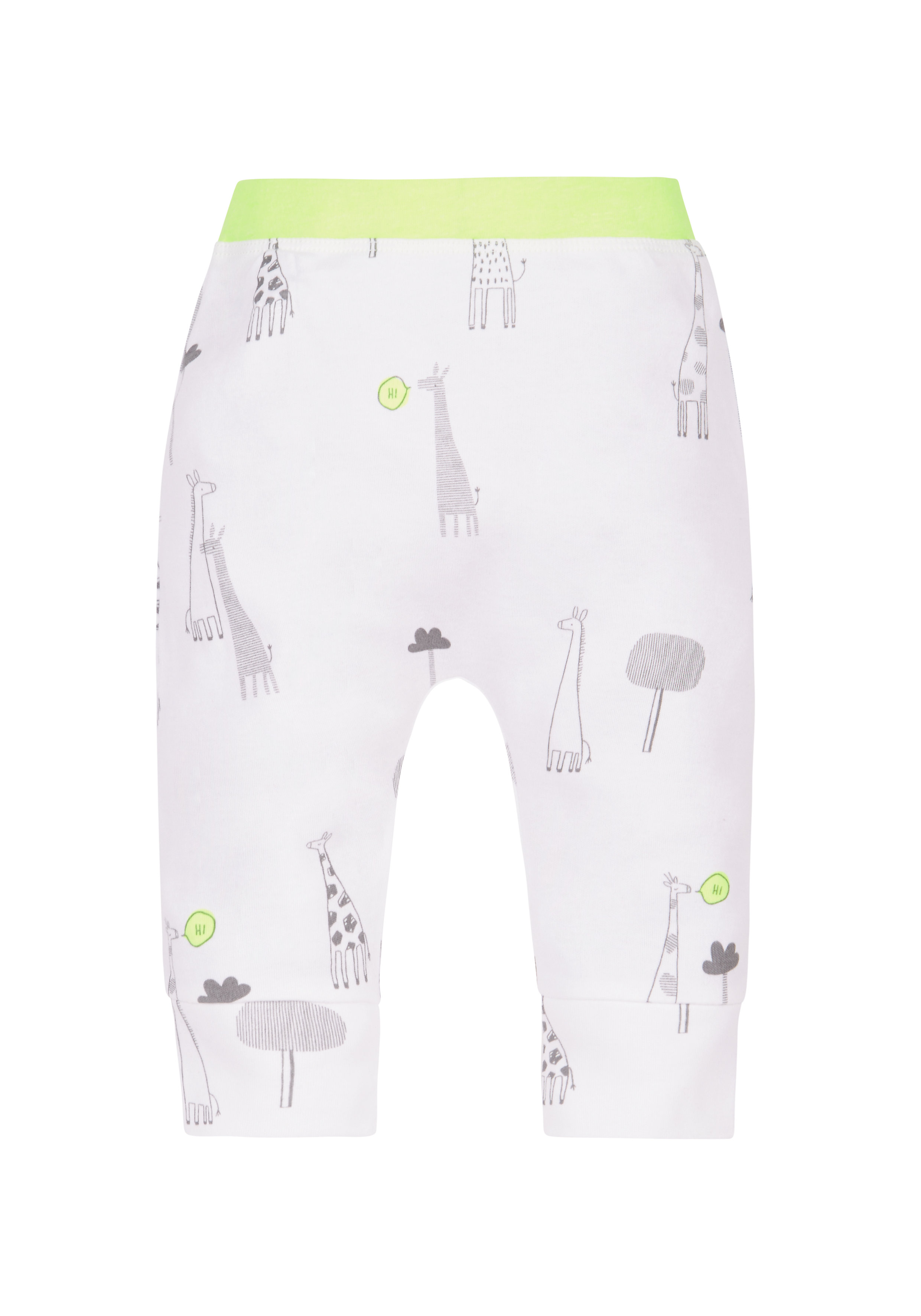 Mothercare | Unisex Giraffe Joggers - White