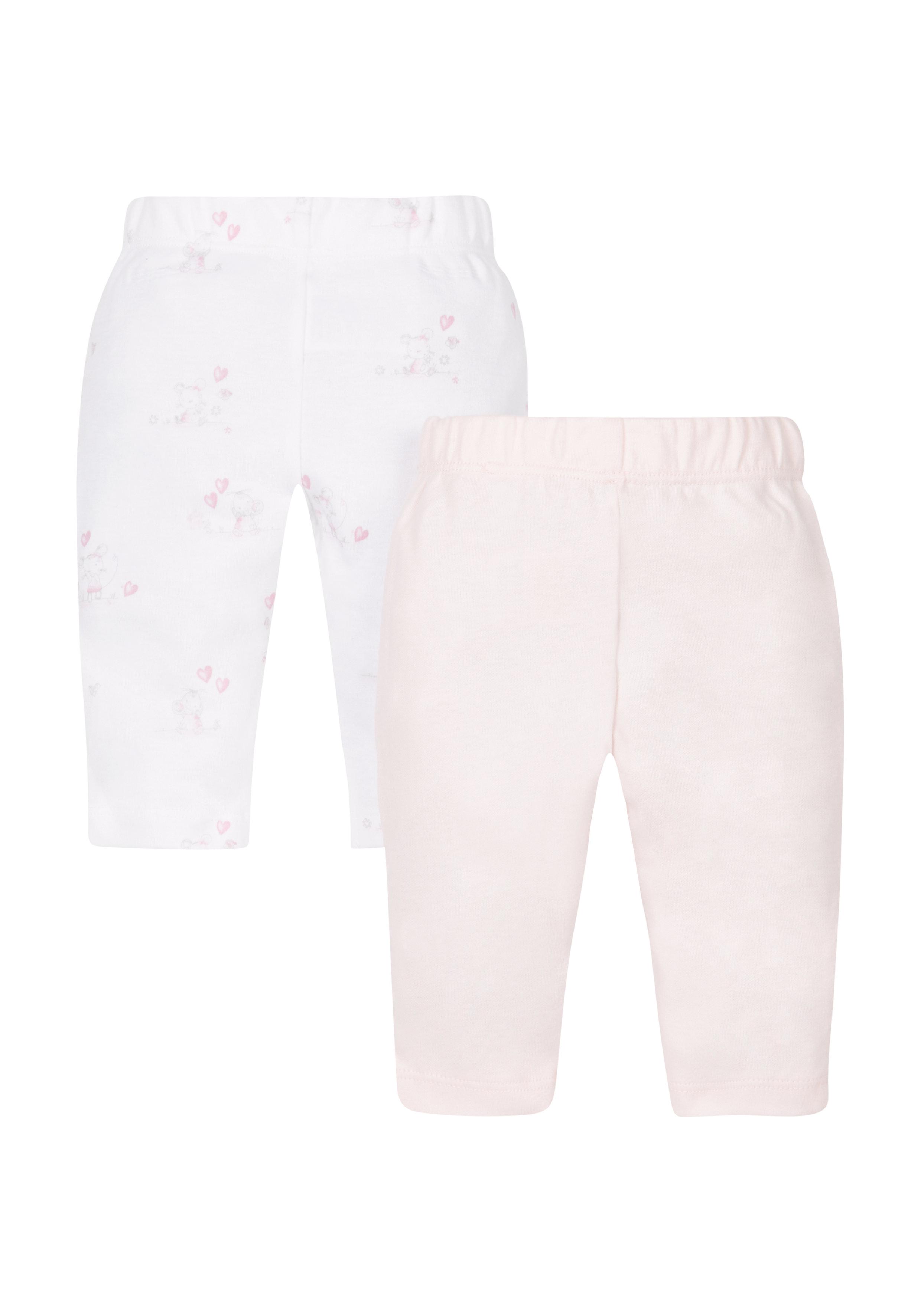 Mothercare | Girls Floral Leggings - 2 Pack - Pink