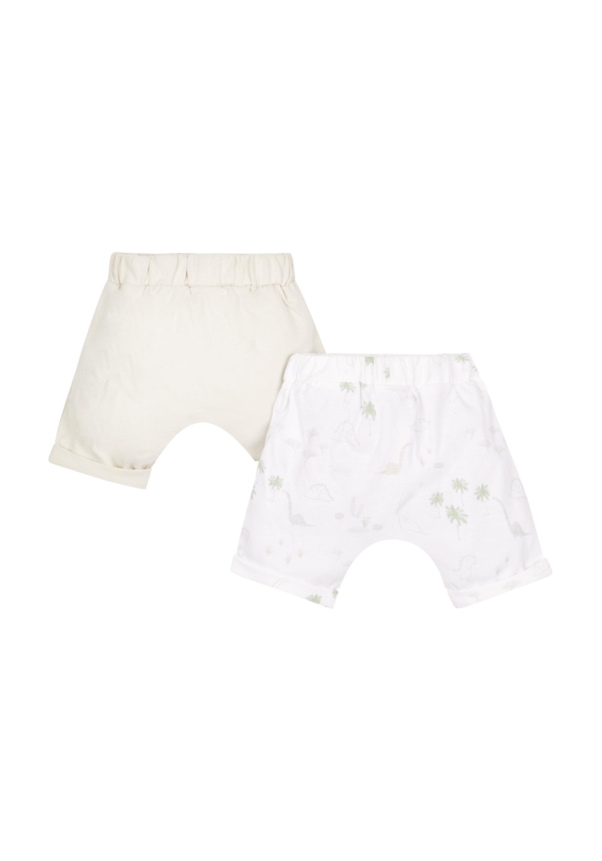 Mothercare | Boys Dino Print Shorts - 2 Pack - White