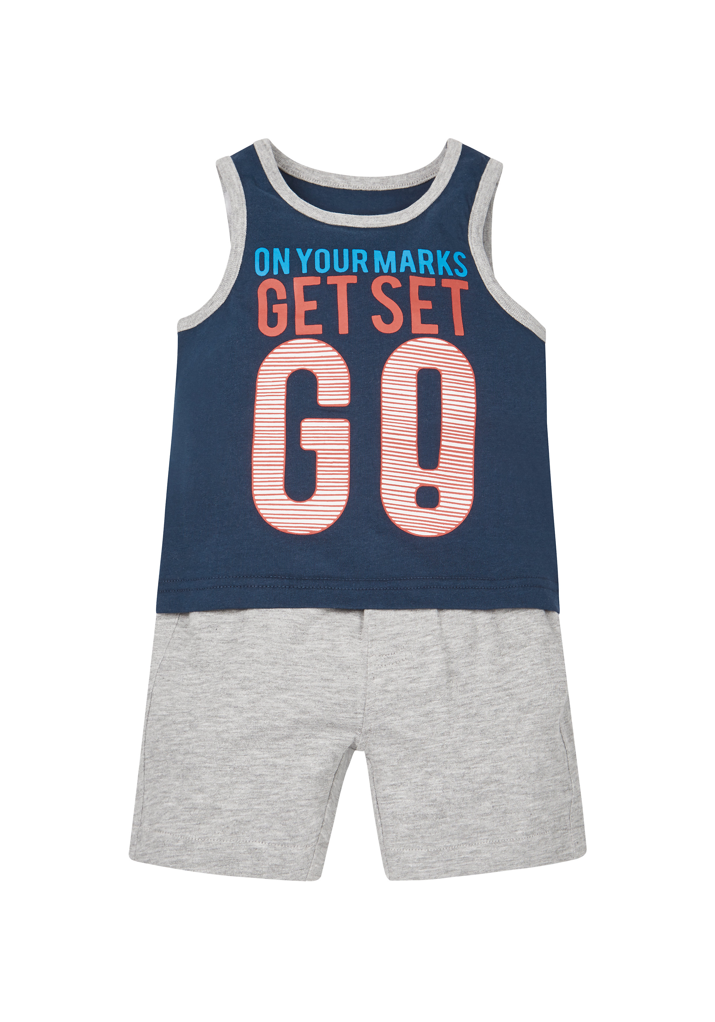 Mothercare | Boys Ready Set Go Vest And Shorts - Multicolor