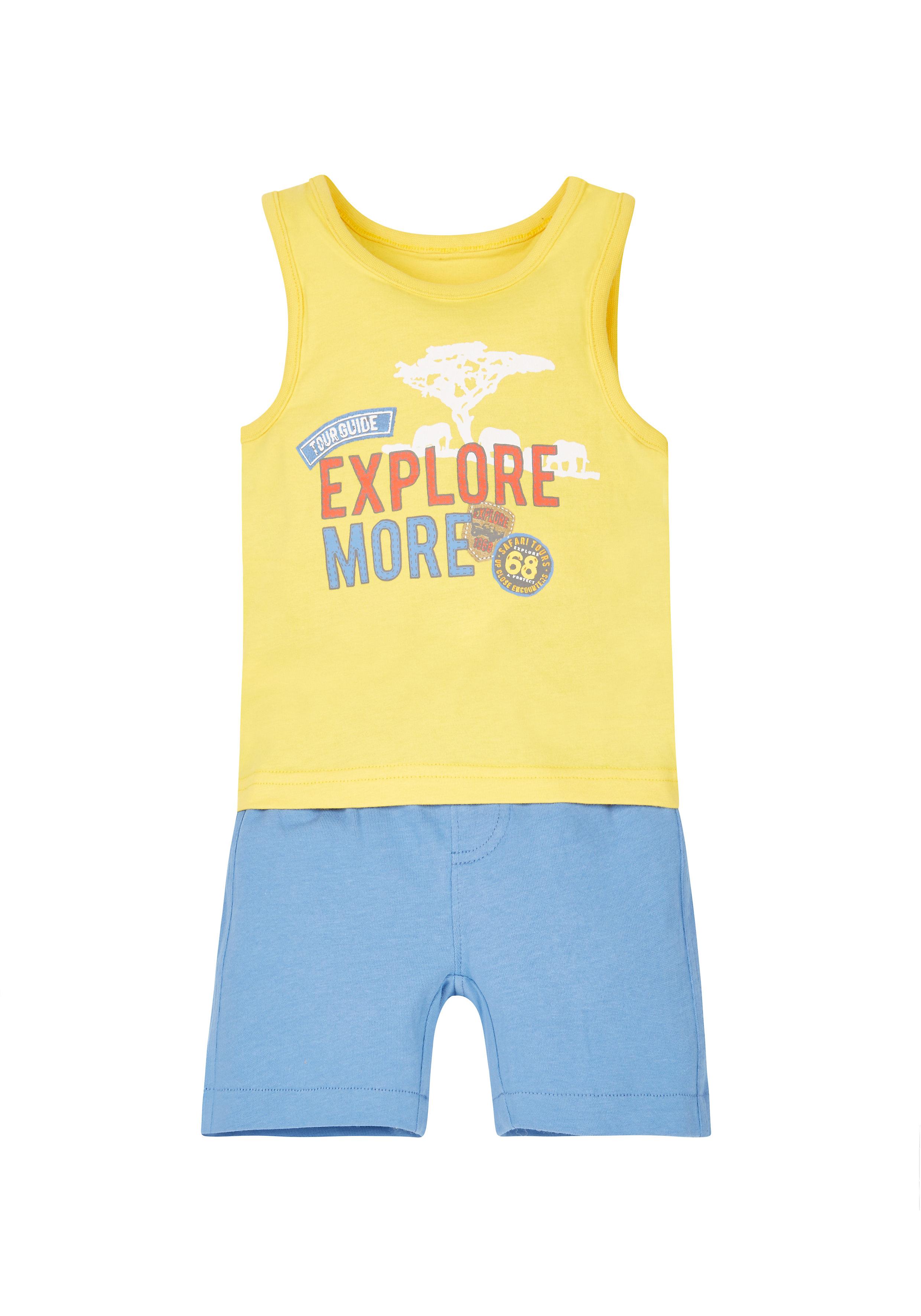 Mothercare | Boys Vest And T-Shirt Set - Multicolor