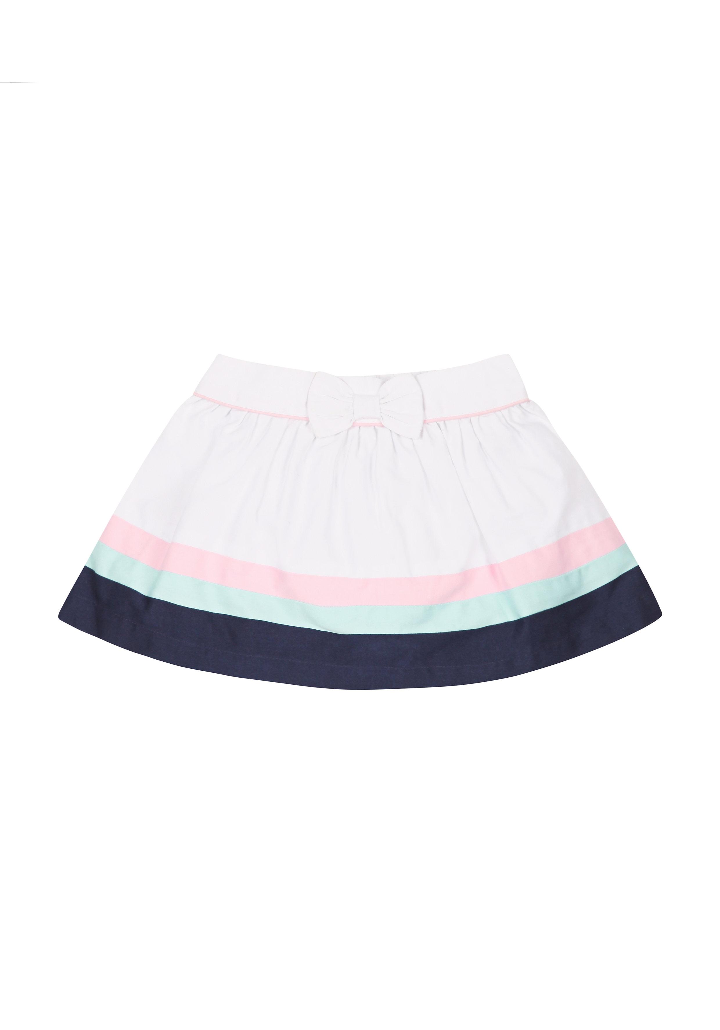Mothercare   Girls Stripe Color Block Skirt - Multicolor