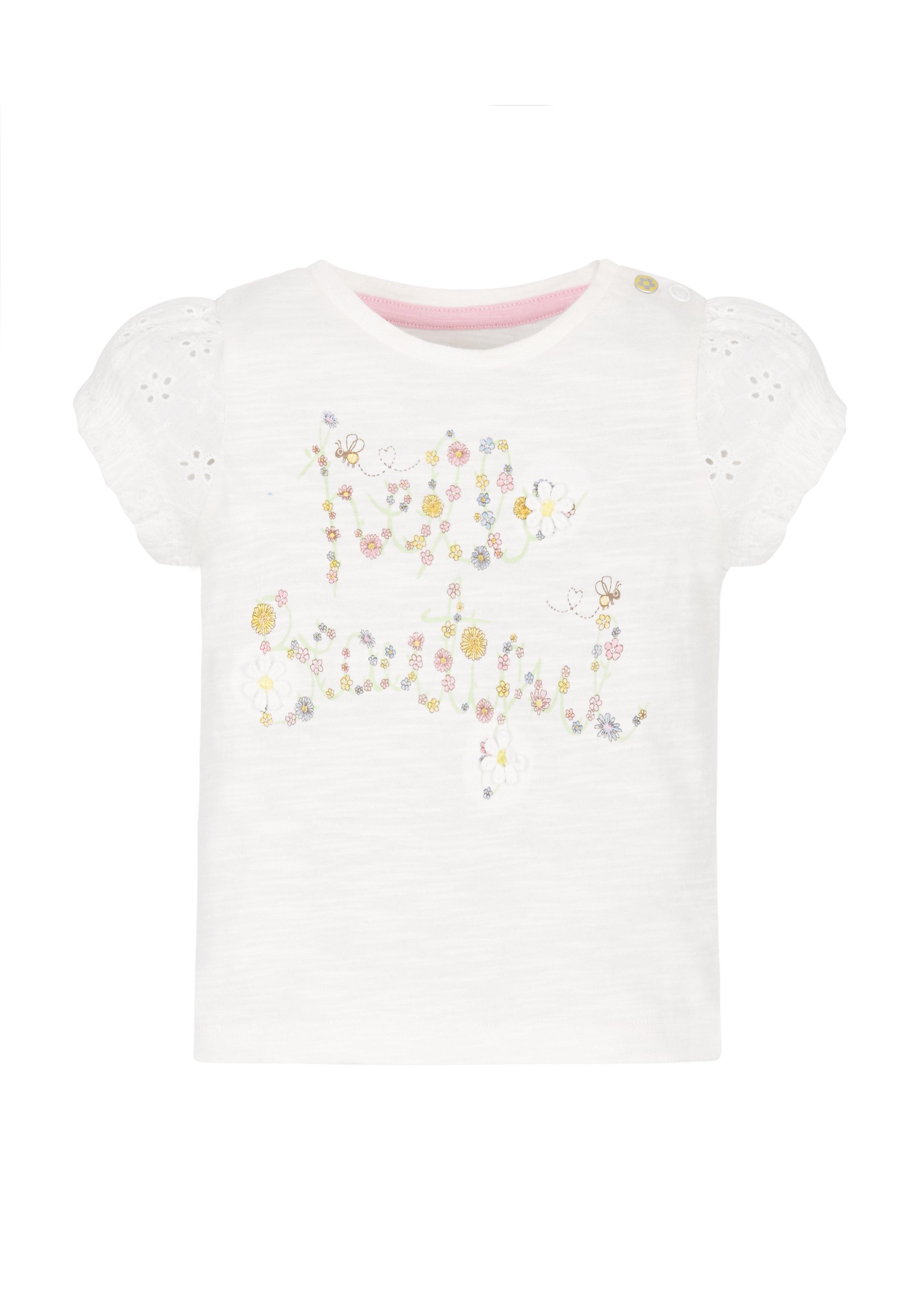 Mothercare | Girls Hello Beautiful T-Shirt - White