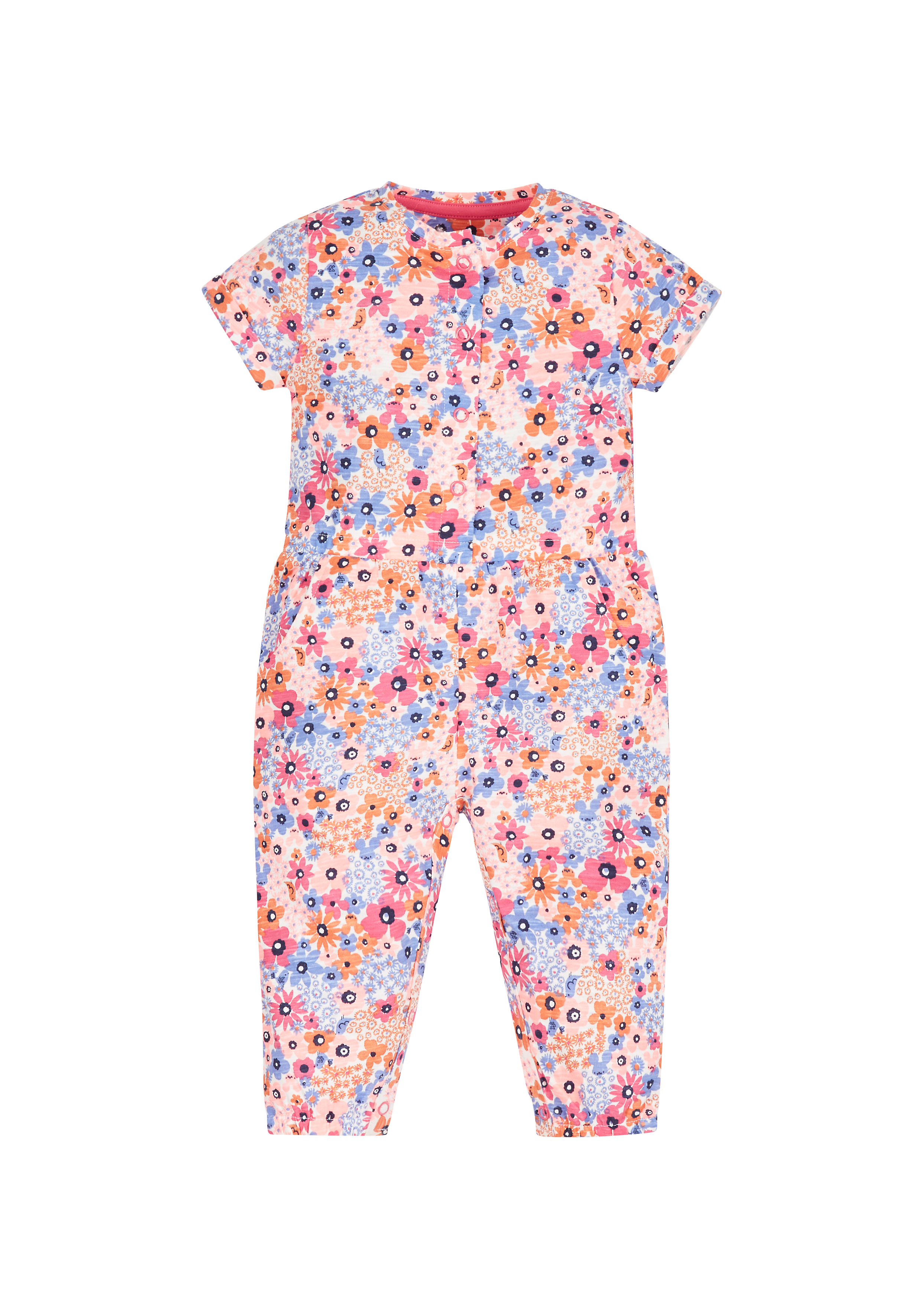 Mothercare   Girls Floral Jumpsuit - Pink