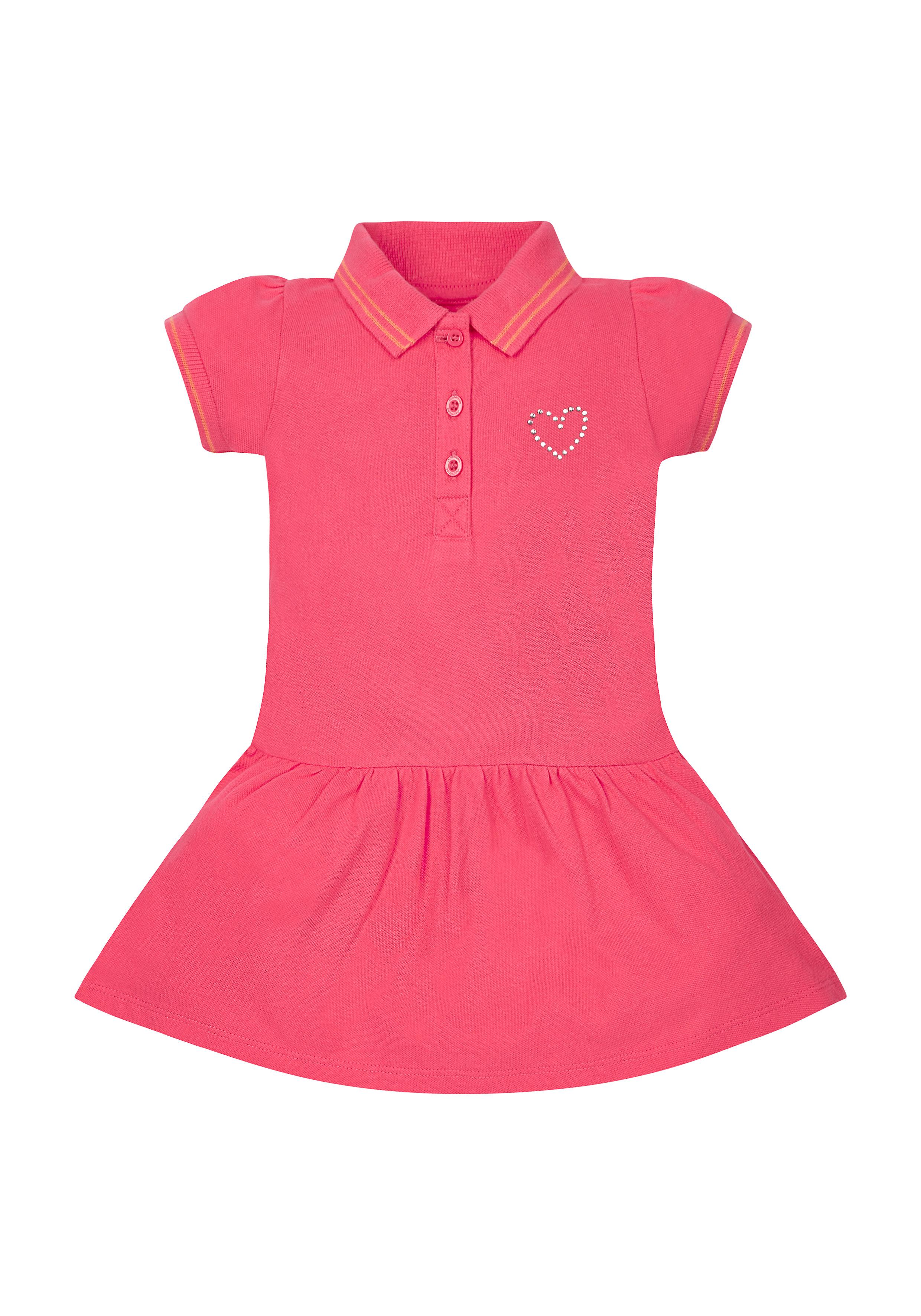 Mothercare | Girls Pique Polo Dress - Pink
