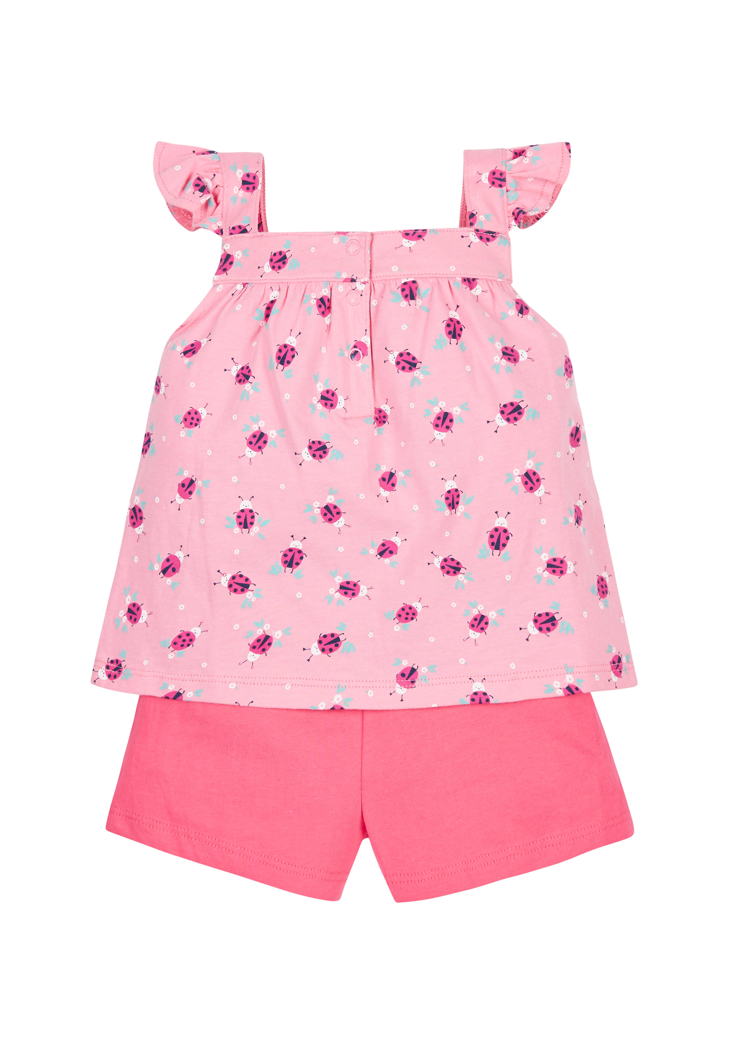 Mothercare | Girls Ladybird Vest And Shorts Set - Pink