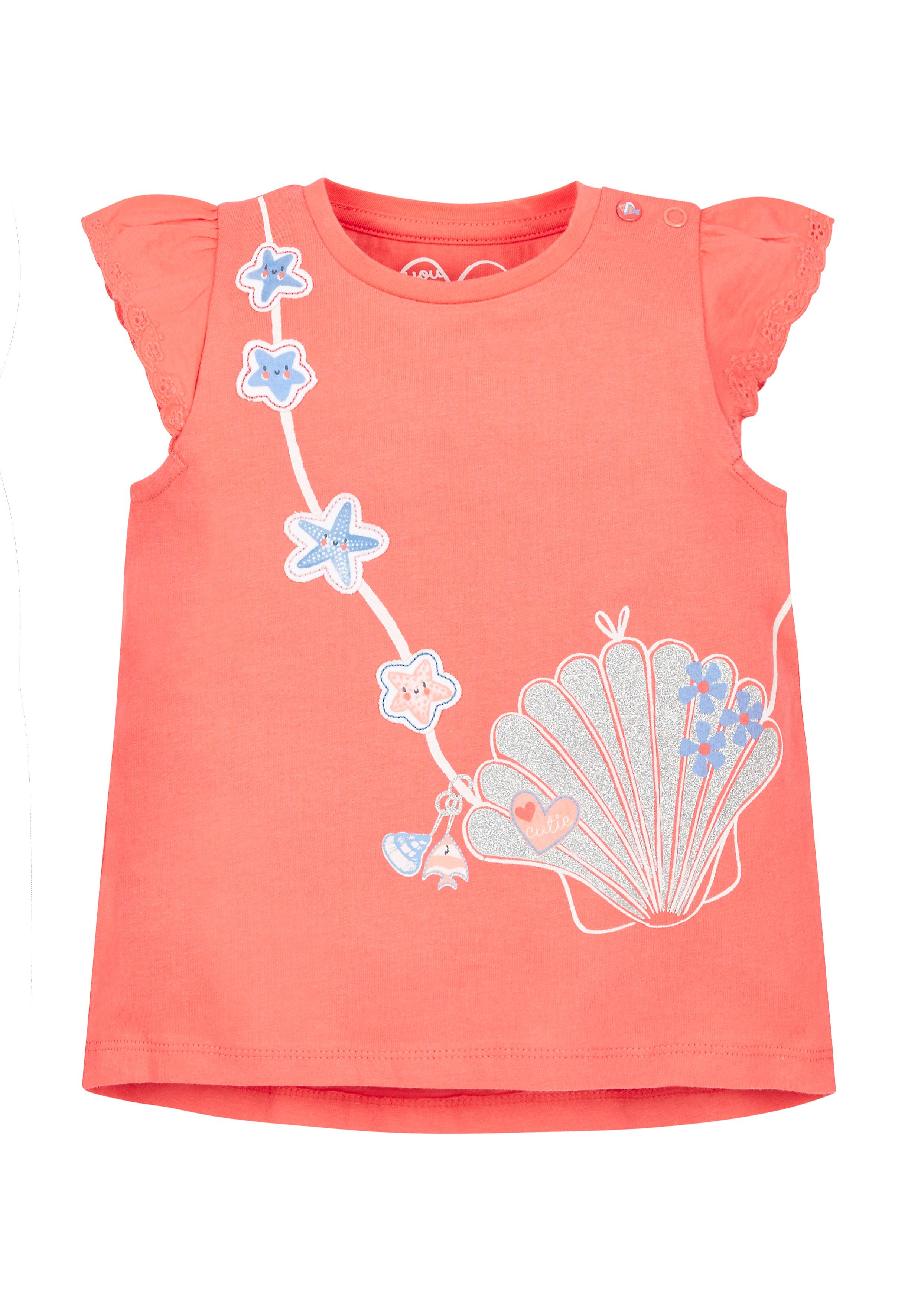 Mothercare   Boys Seashell Bag T-Shirt - Coral