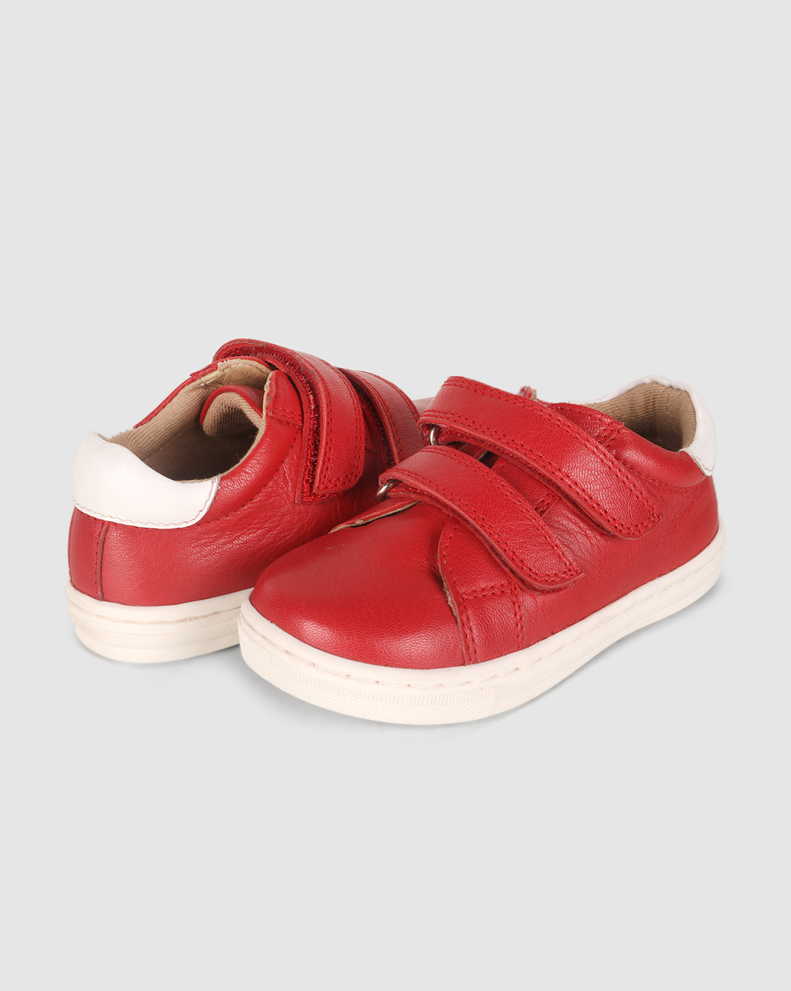 Mothercare | Unisex First Walker Shoes Two Strap Velcro Opening - Red