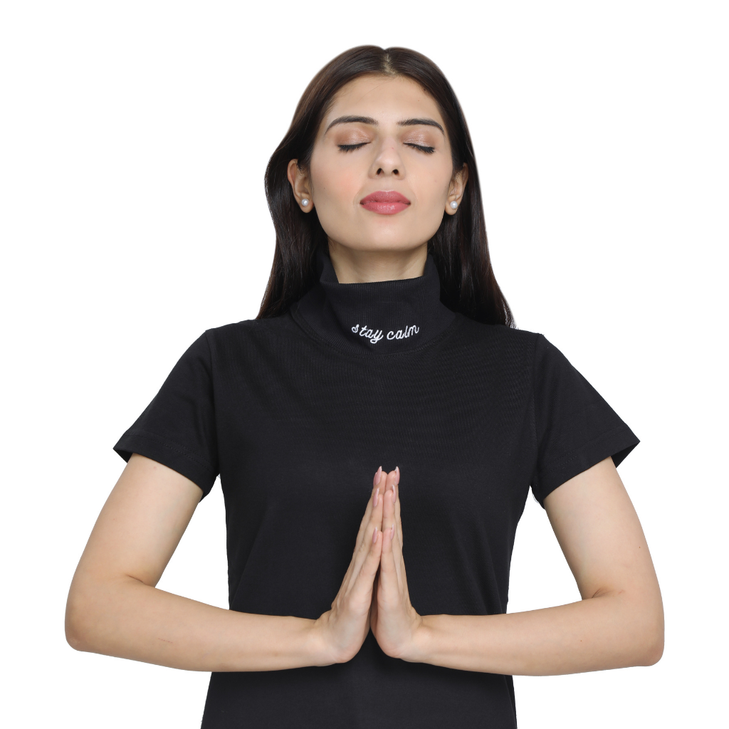 Minimaliste Clothing | Stay Calm Turtle Neck Tshirt