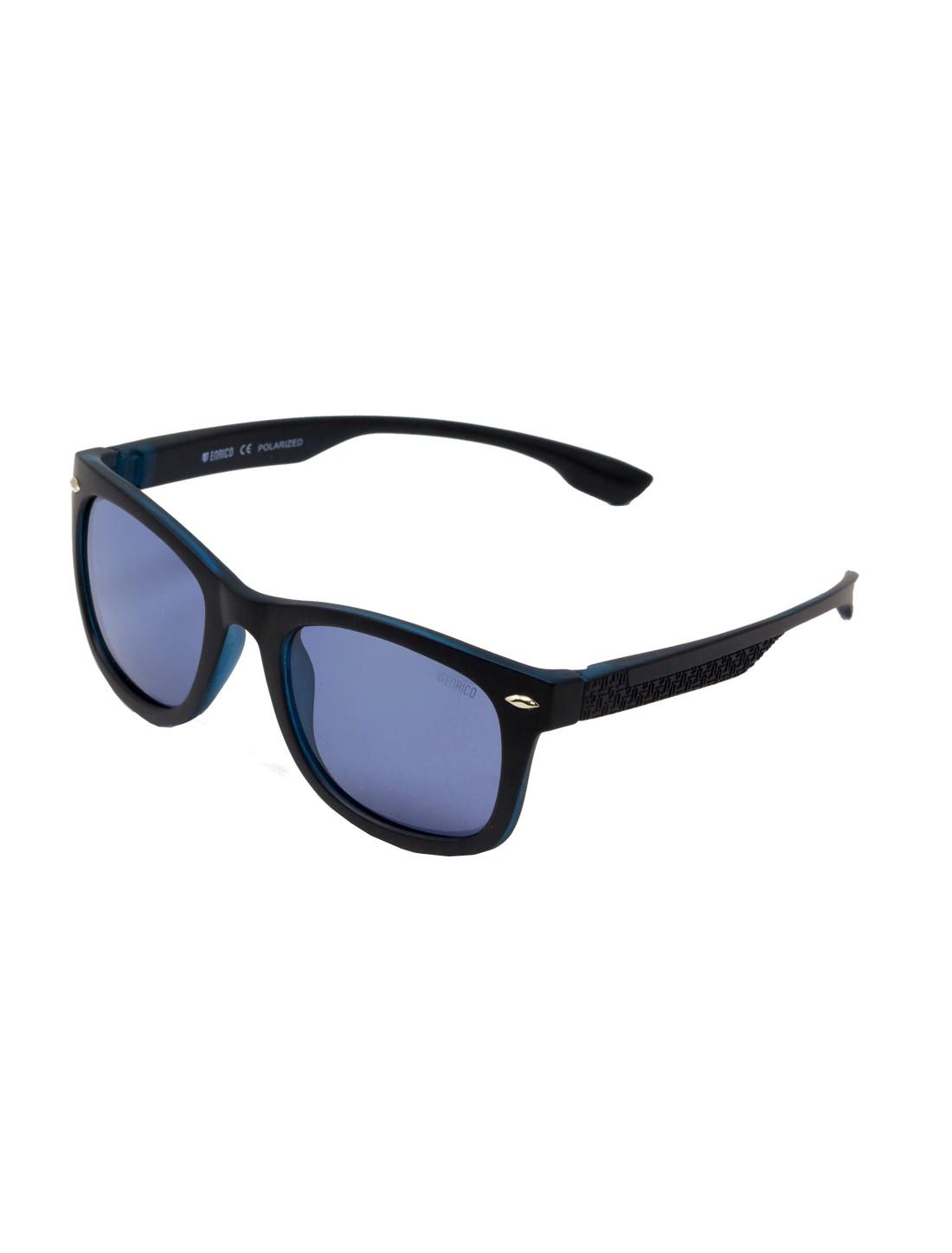 ENRICO   ENRICO Nudo UV Protected Wayfarer Sunglasses for Men ( Lens - Blue   Frame - Black)