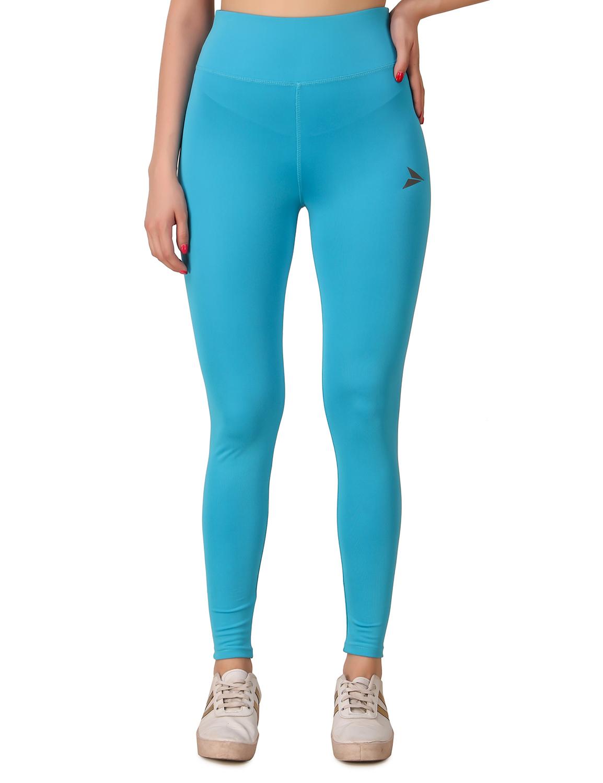 Fitinc | Fitinc Activewear Sky Blue High Waist Tights for Women