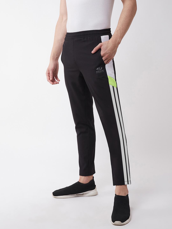 Masch Sports | Masch Sports Men's Regular Fit Black Soft Polyester Track Pants