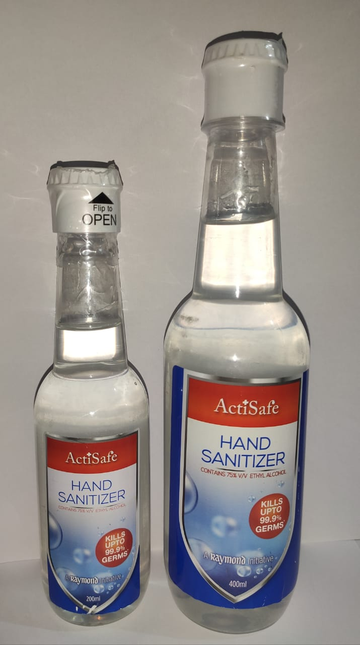 A Raymond Initiative | Raymond ActiSafe Hand Sanitizer - 200ml & 400ml
