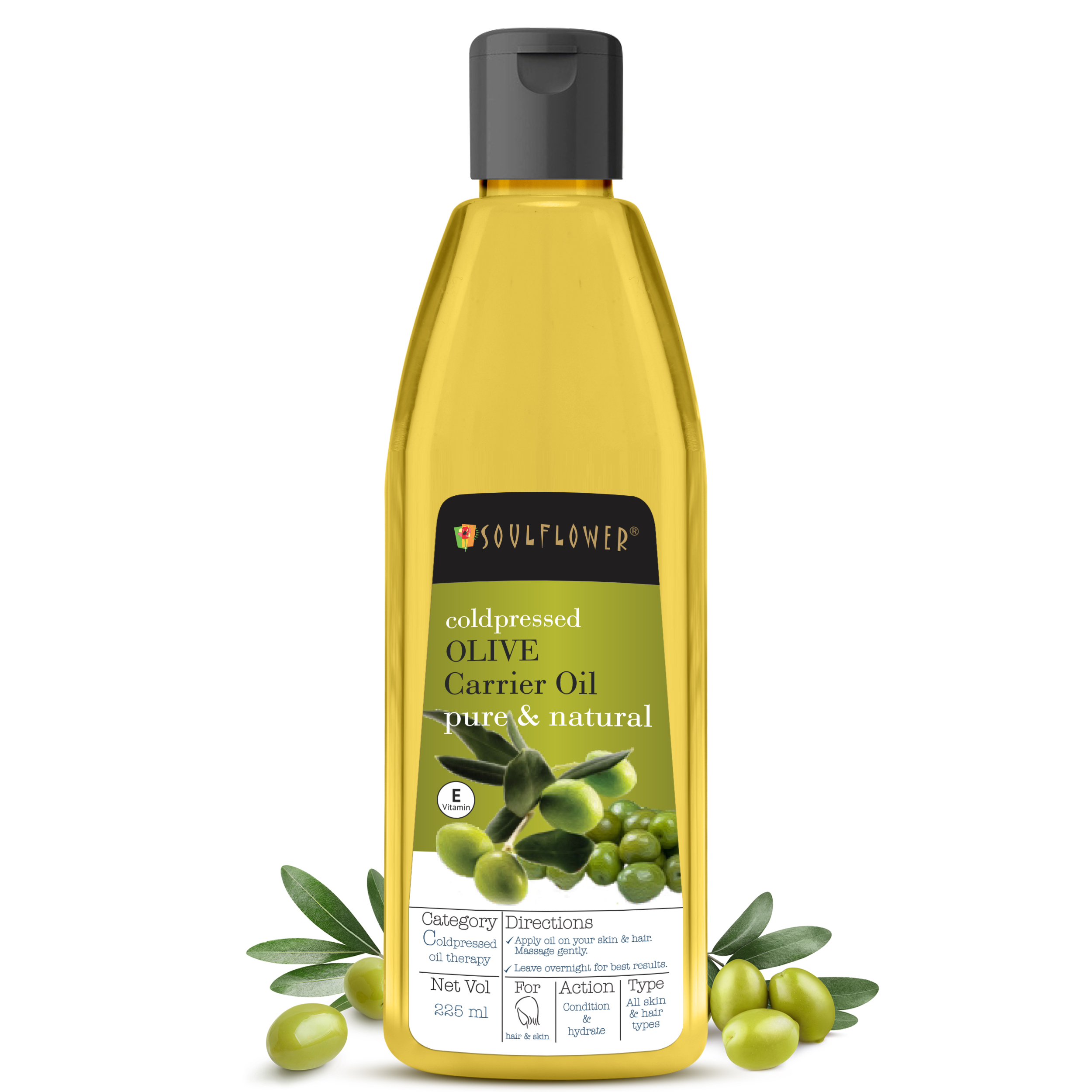 Soulflower | Coldpressed Olive Carrier Oil - 225ML